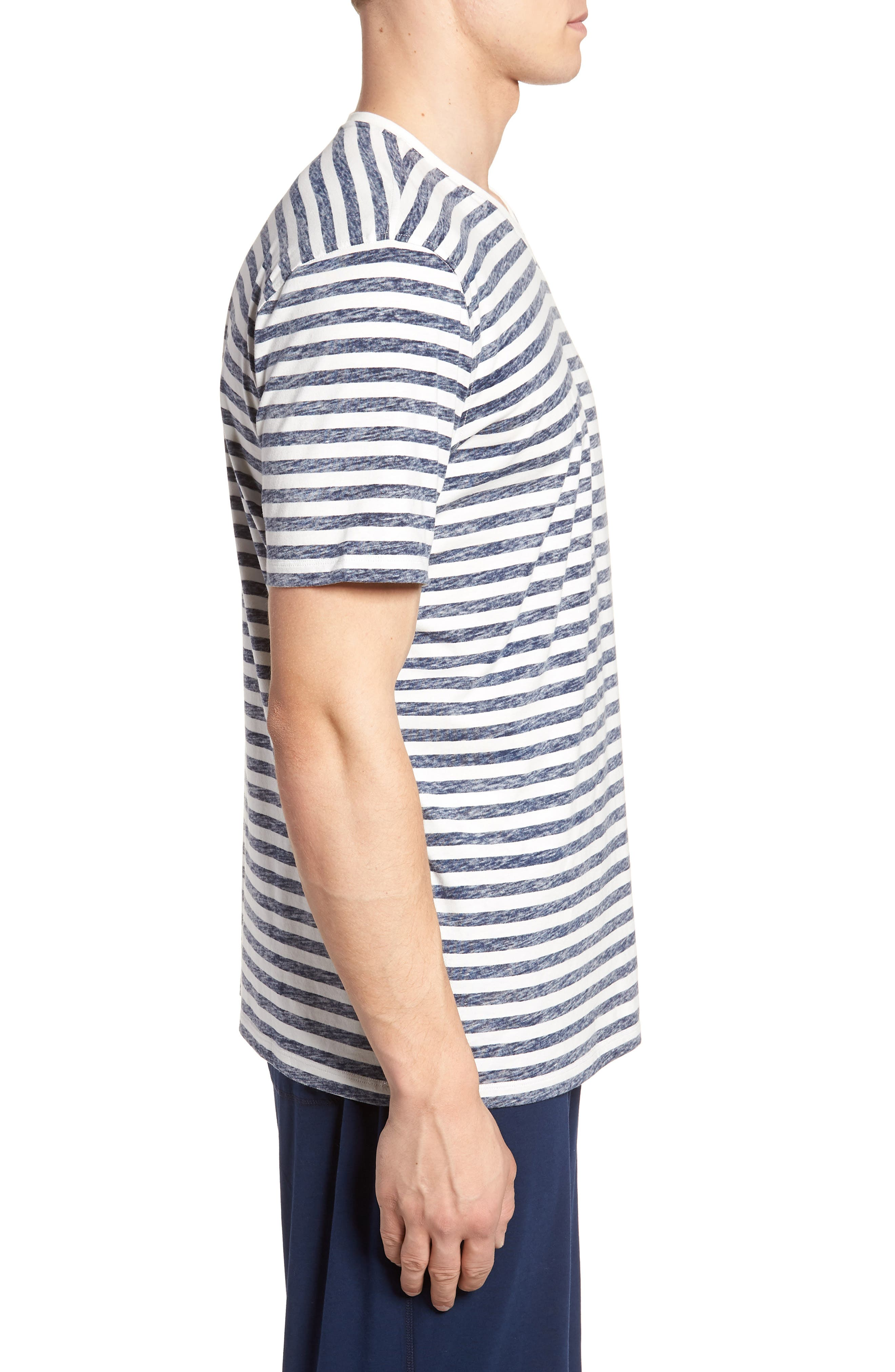 Reverse Stripe T-Shirt,                             Alternate thumbnail 3, color,                             Navy Stripe