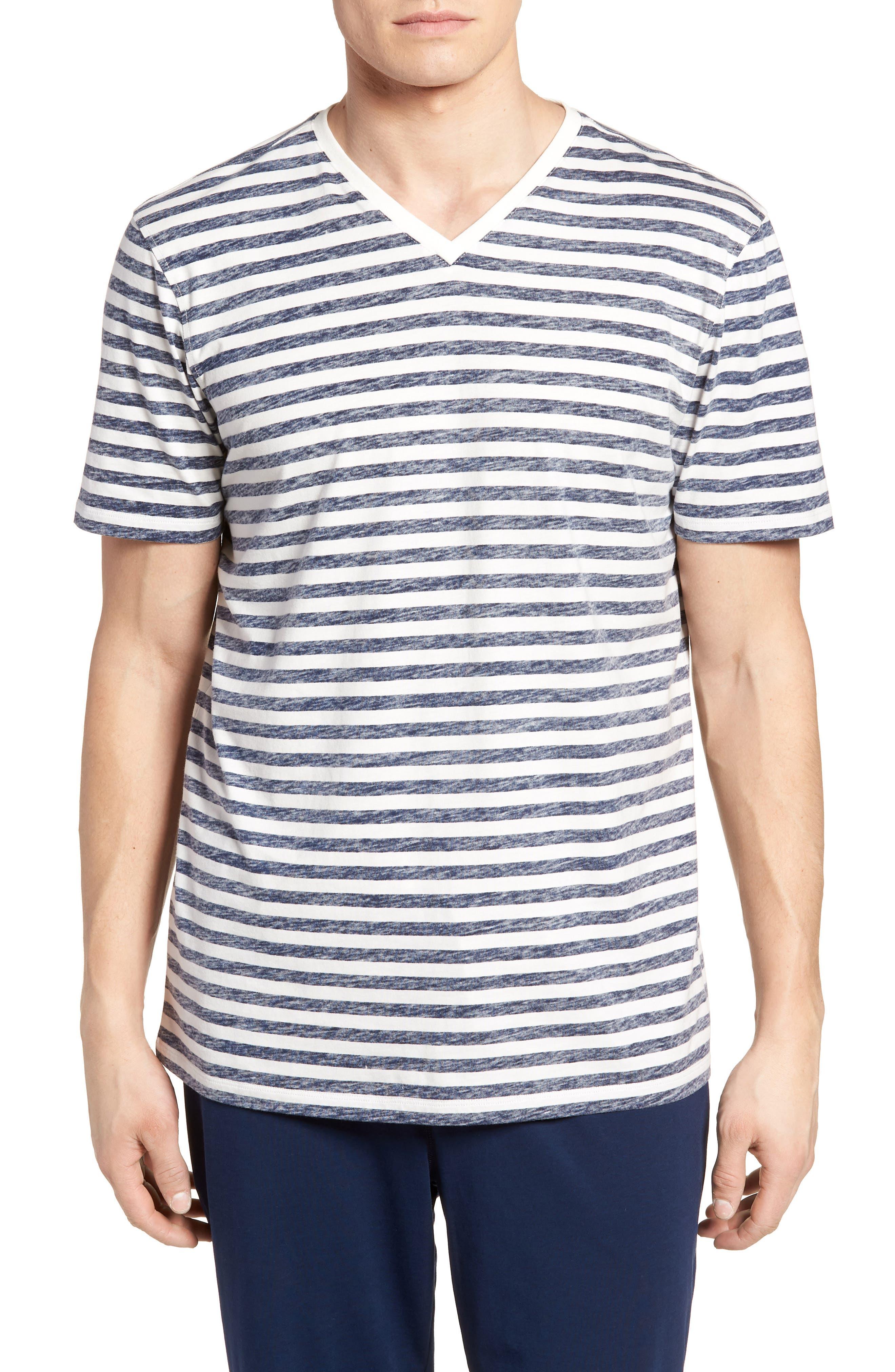 Reverse Stripe T-Shirt,                         Main,                         color, Navy Stripe