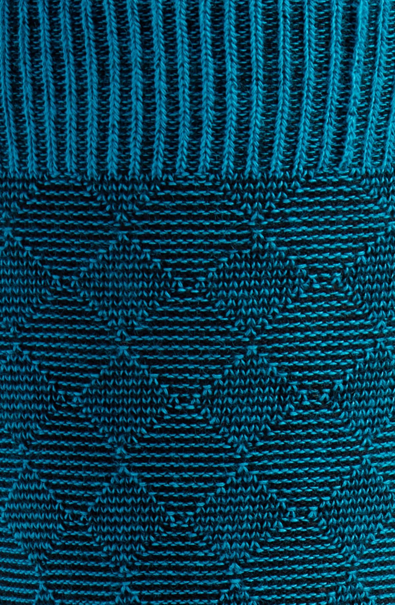 Diamond Textured Socks,                             Alternate thumbnail 2, color,                             Teal