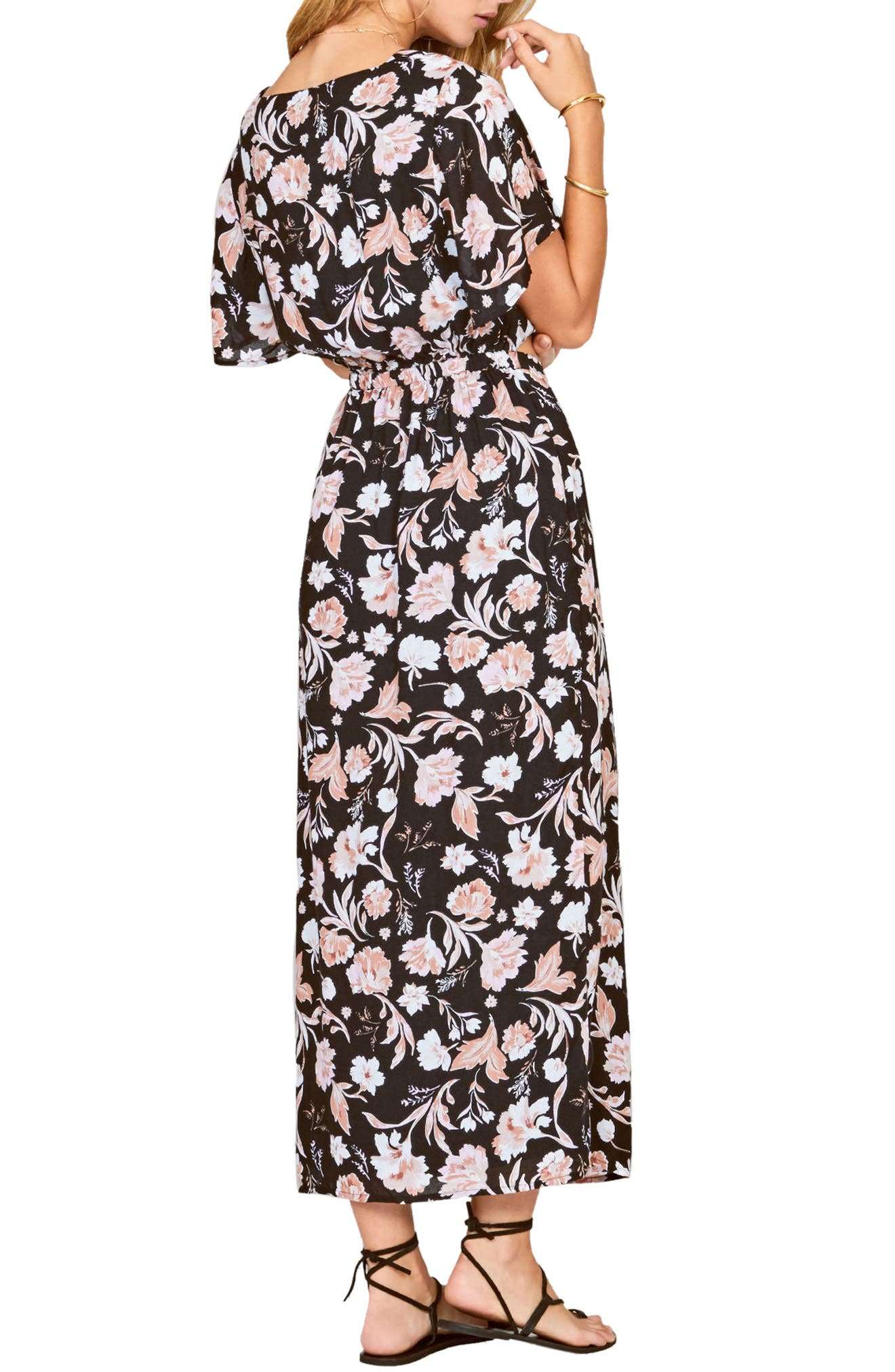 Bohemian Rhapsody Maxi Dress,                             Alternate thumbnail 2, color,                             Black Sands