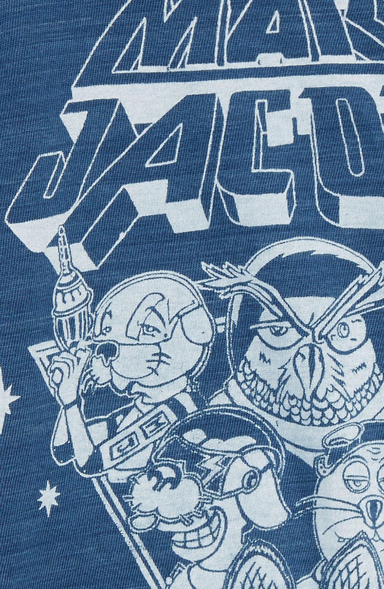 Space T-Shirt,                             Alternate thumbnail 2, color,                             Indigo/ Lavendar