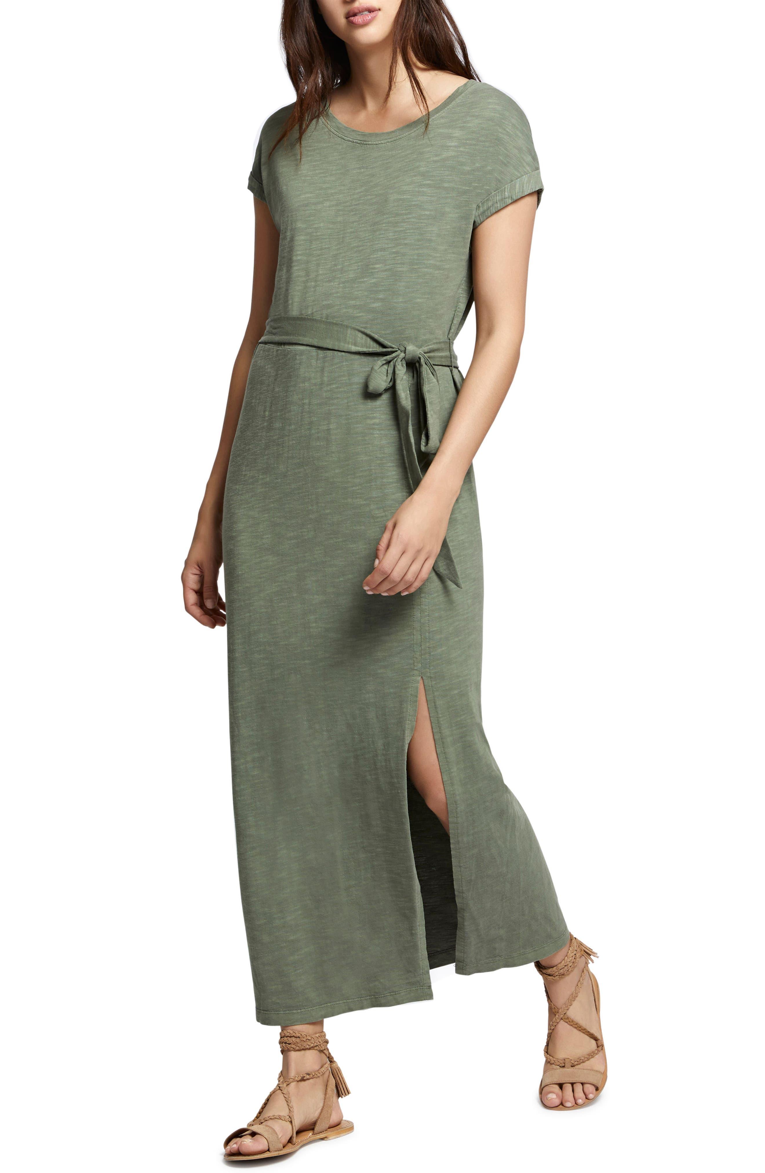 Isle Maxi Dress,                             Alternate thumbnail 4, color,                             Cadet