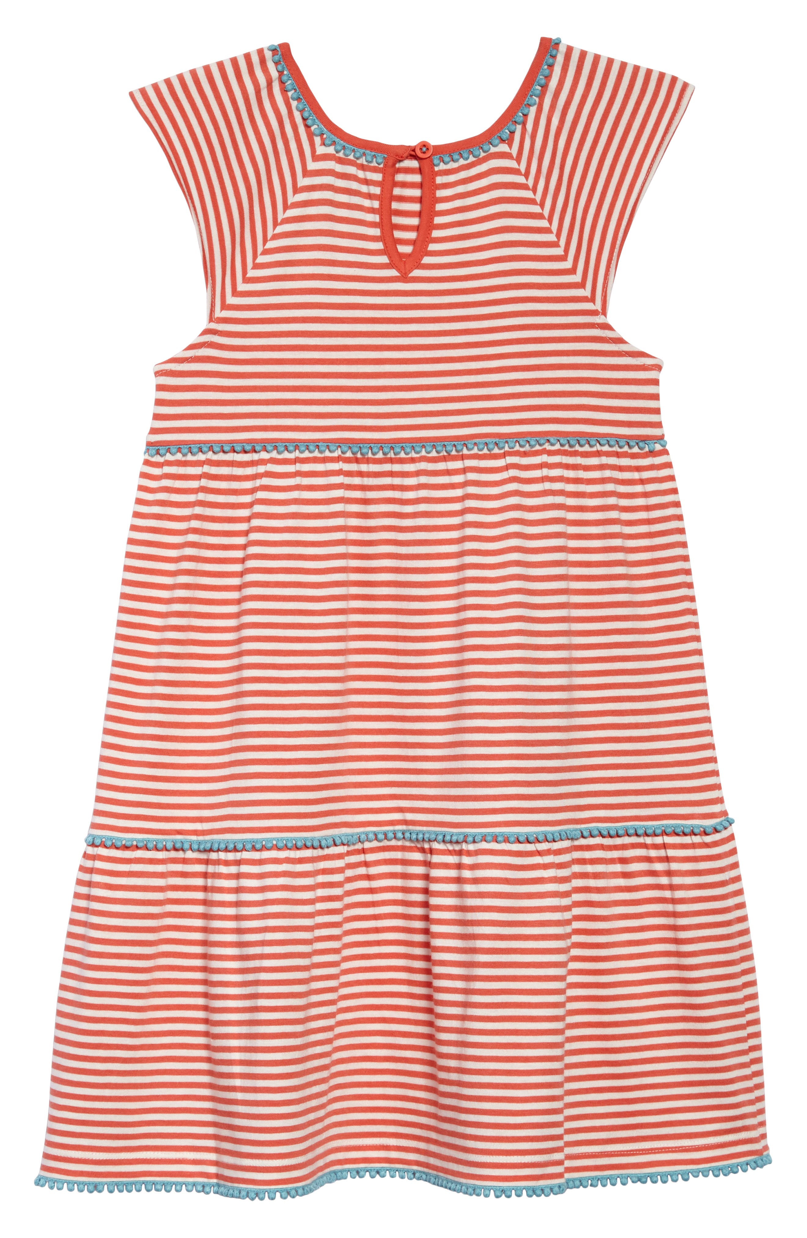 Tiered Jersey Frill Dress,                             Alternate thumbnail 2, color,                             Melon Crush Orange/ Ivory Ora