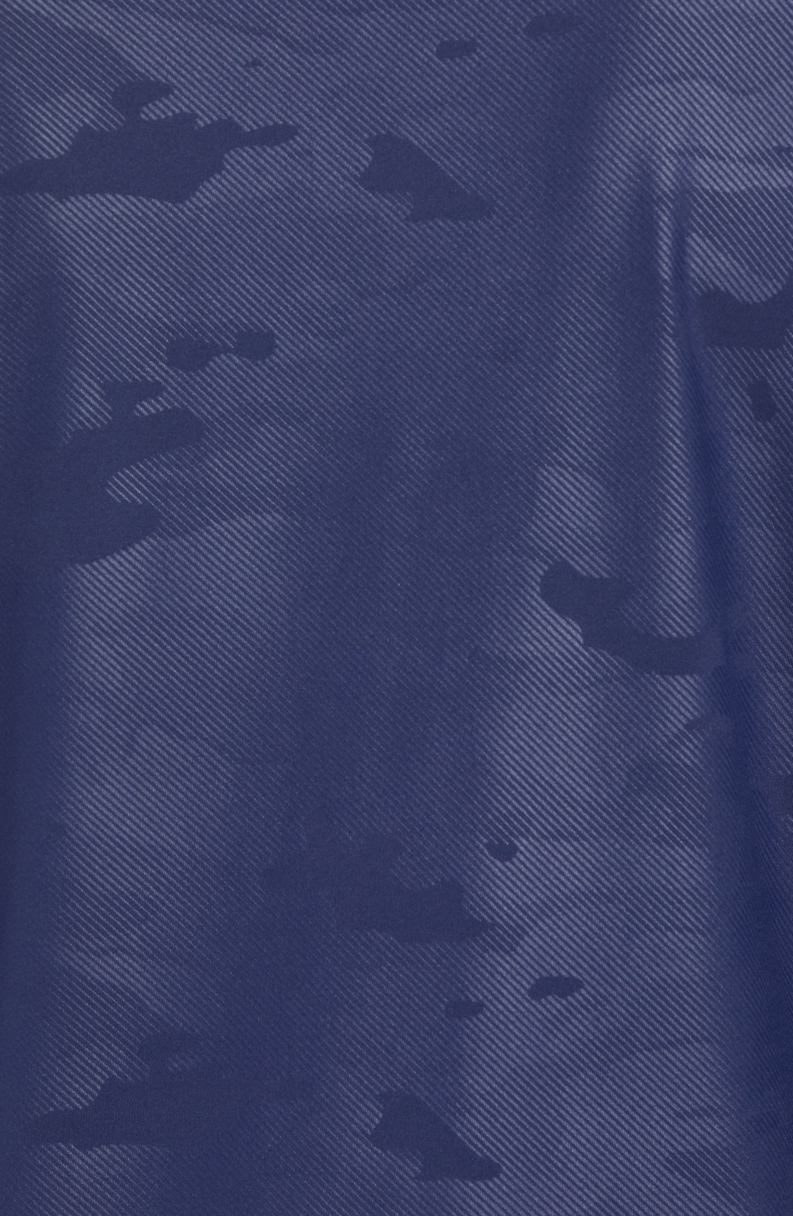 Camo Regular Fit Quarter-Zip Pullover,                             Alternate thumbnail 5, color,                             Twilight