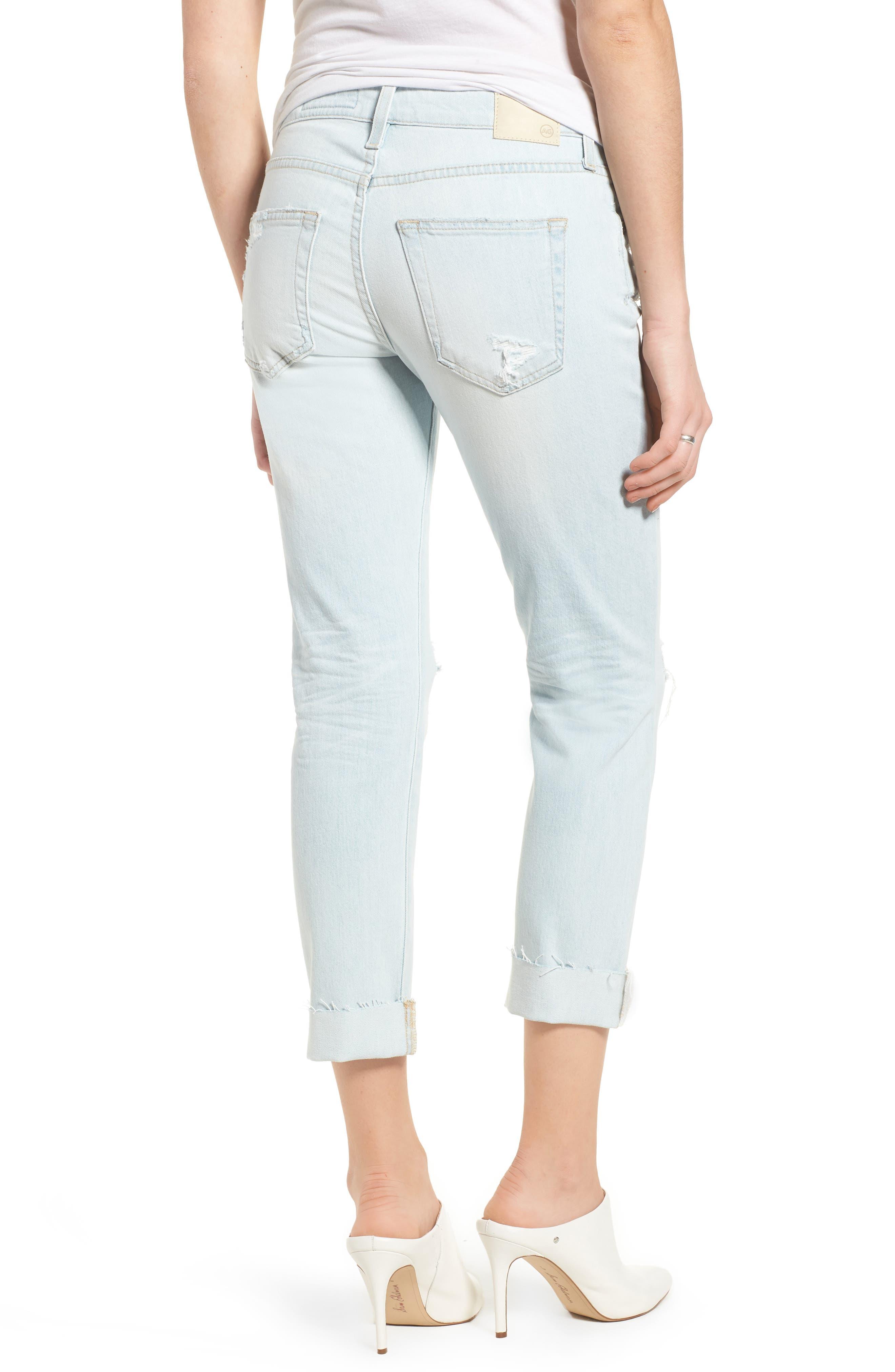 Alternate Image 2  - AG The Ex-Boyfriend Crop Slim Jeans