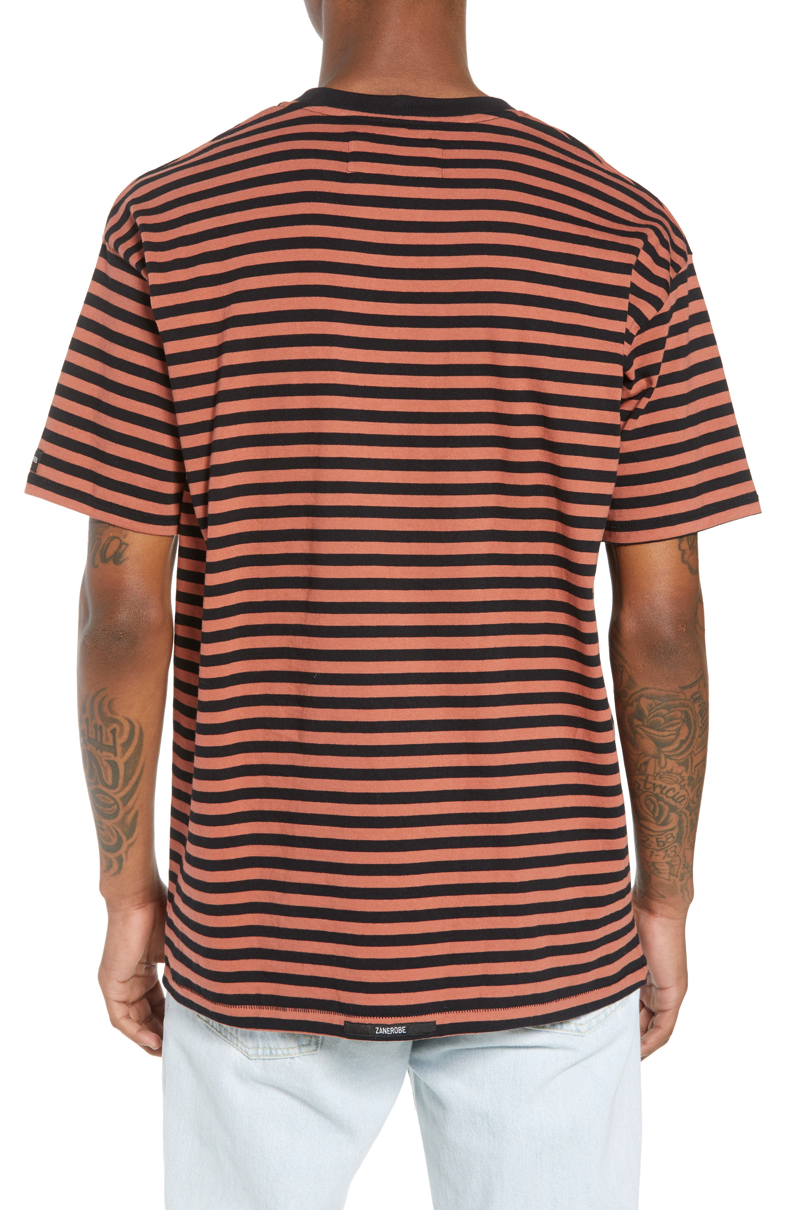 ZABEROBE Stripe Box T-Shirt,                             Alternate thumbnail 2, color,                             Bronze/ Black