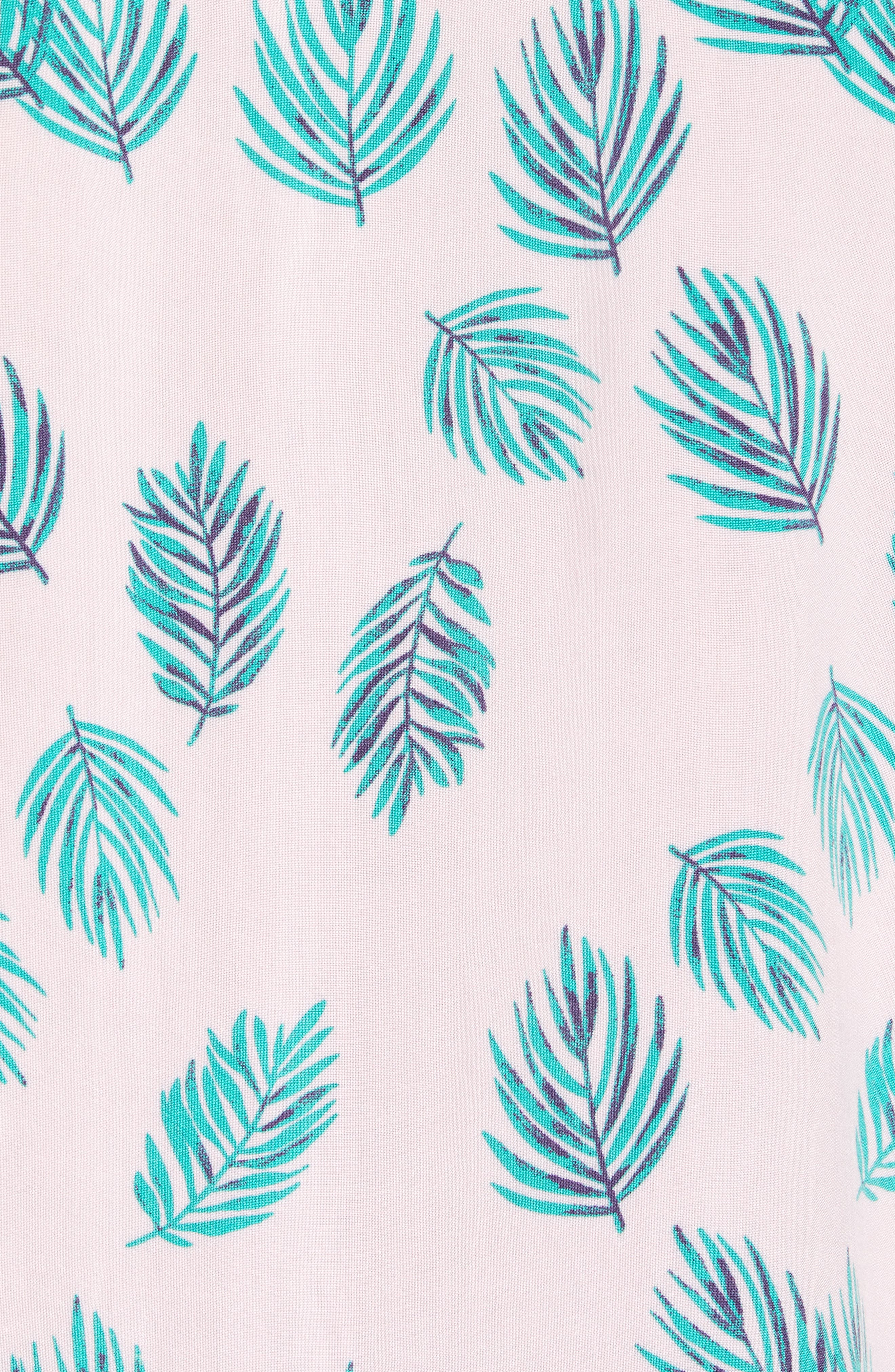 Holiday Woven Shirt,                             Alternate thumbnail 5, color,                             Pink Fern