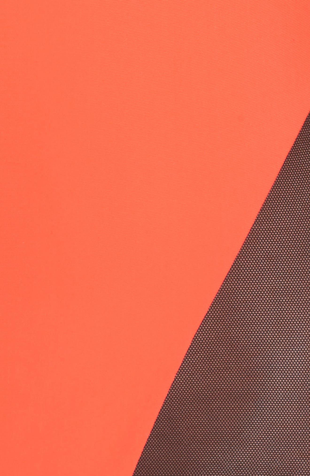 Delta X One-Piece Swimsuit,                             Alternate thumbnail 5, color,                             Neon Lava Orange