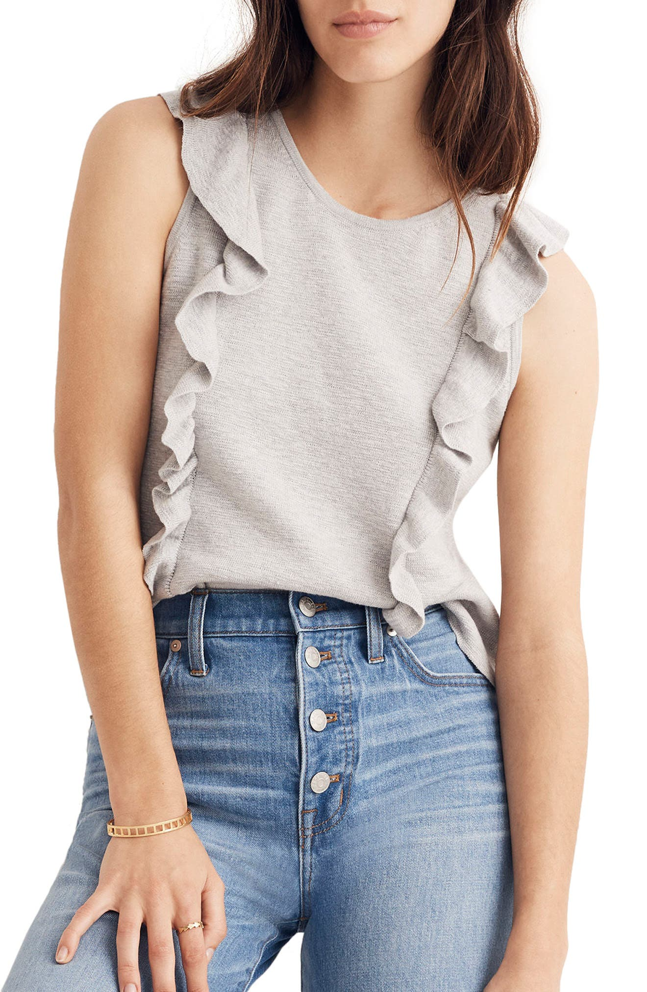 Alternate Image 1 Selected - Madewell Ruffle Sweater Tank