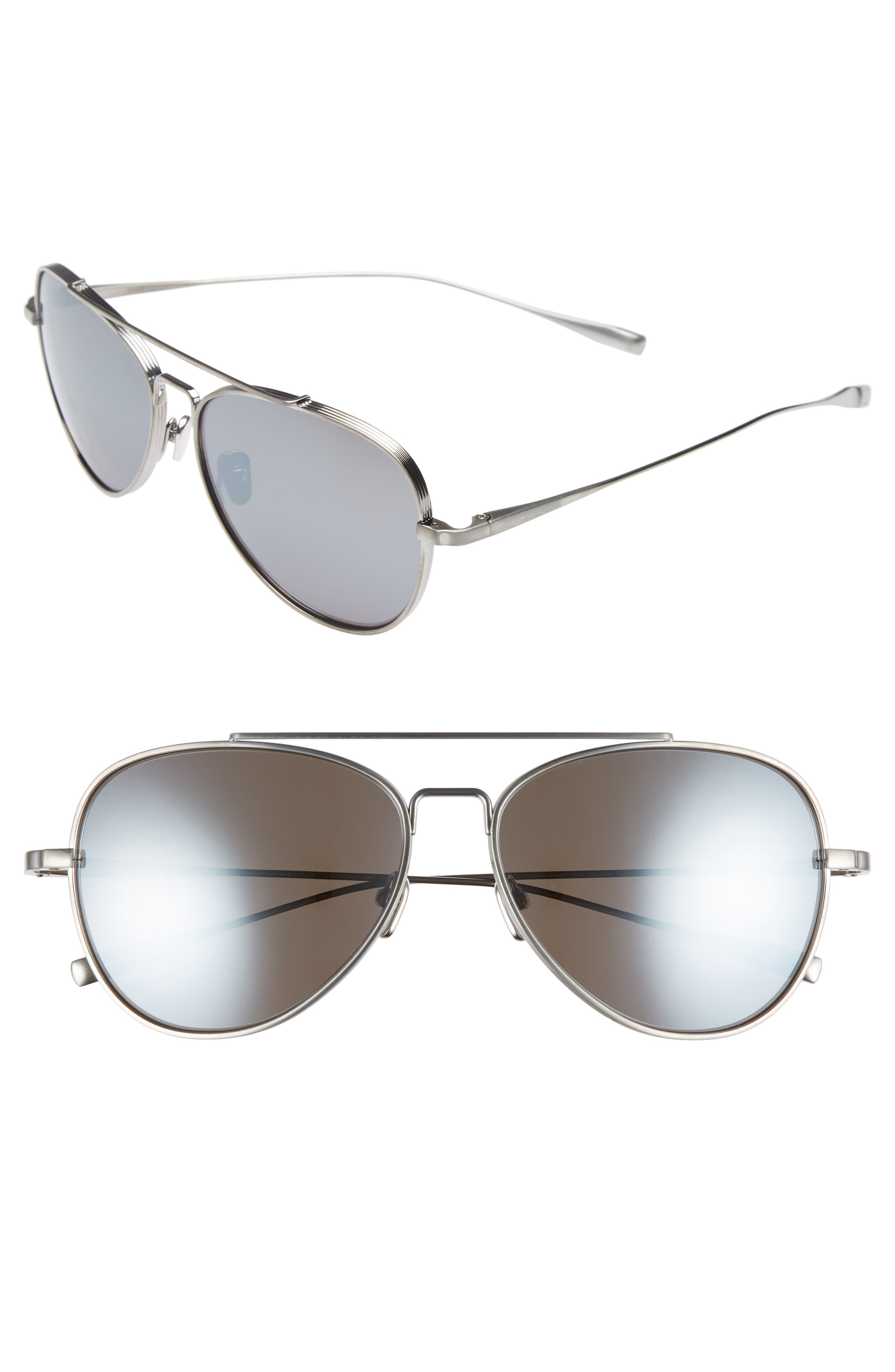 60mm Polarized Aviator Sunglasses,                             Main thumbnail 1, color,                             Tempest