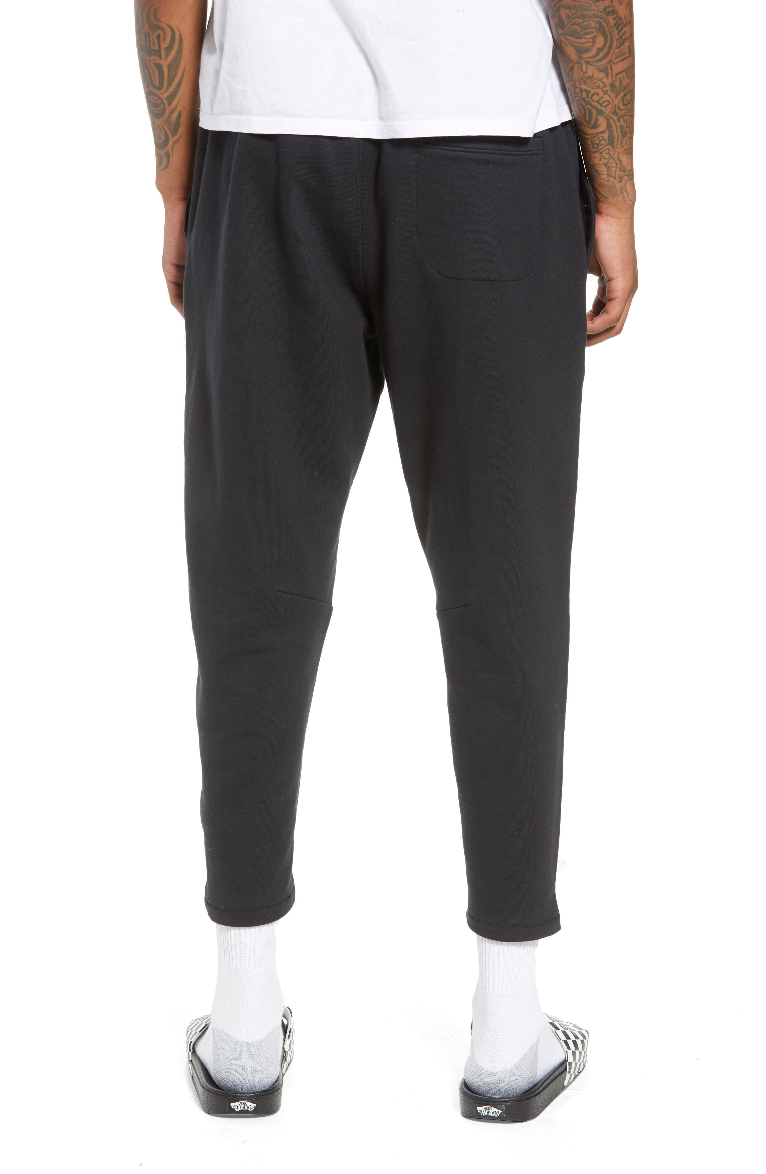 Cropped Sweatpants,                             Alternate thumbnail 2, color,                             Black Rock
