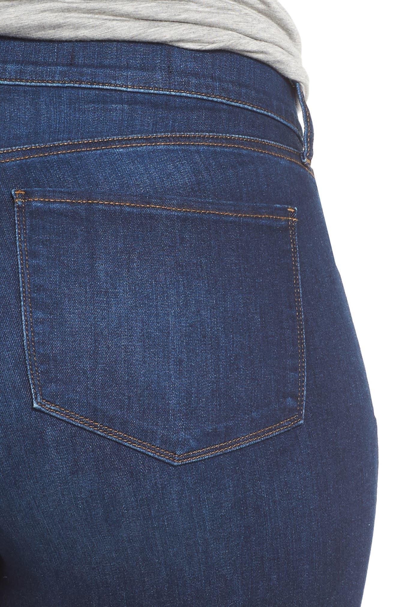 Briella Fray Hem Denim Bermuda Shorts,                             Alternate thumbnail 6, color,                             Cooper