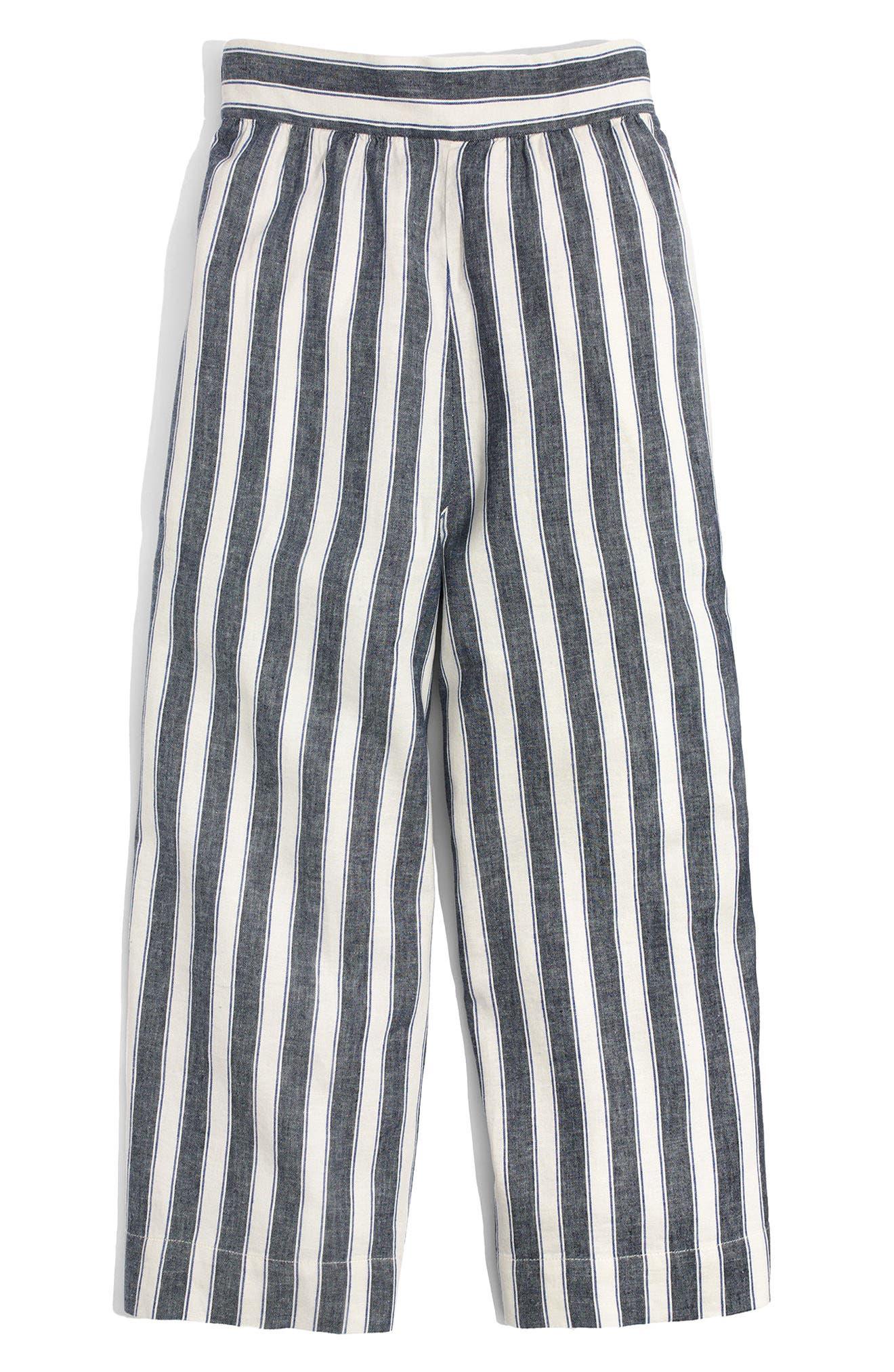 Huston Stripe Crop Pants,                             Alternate thumbnail 3, color,                             Transatlantic Blue