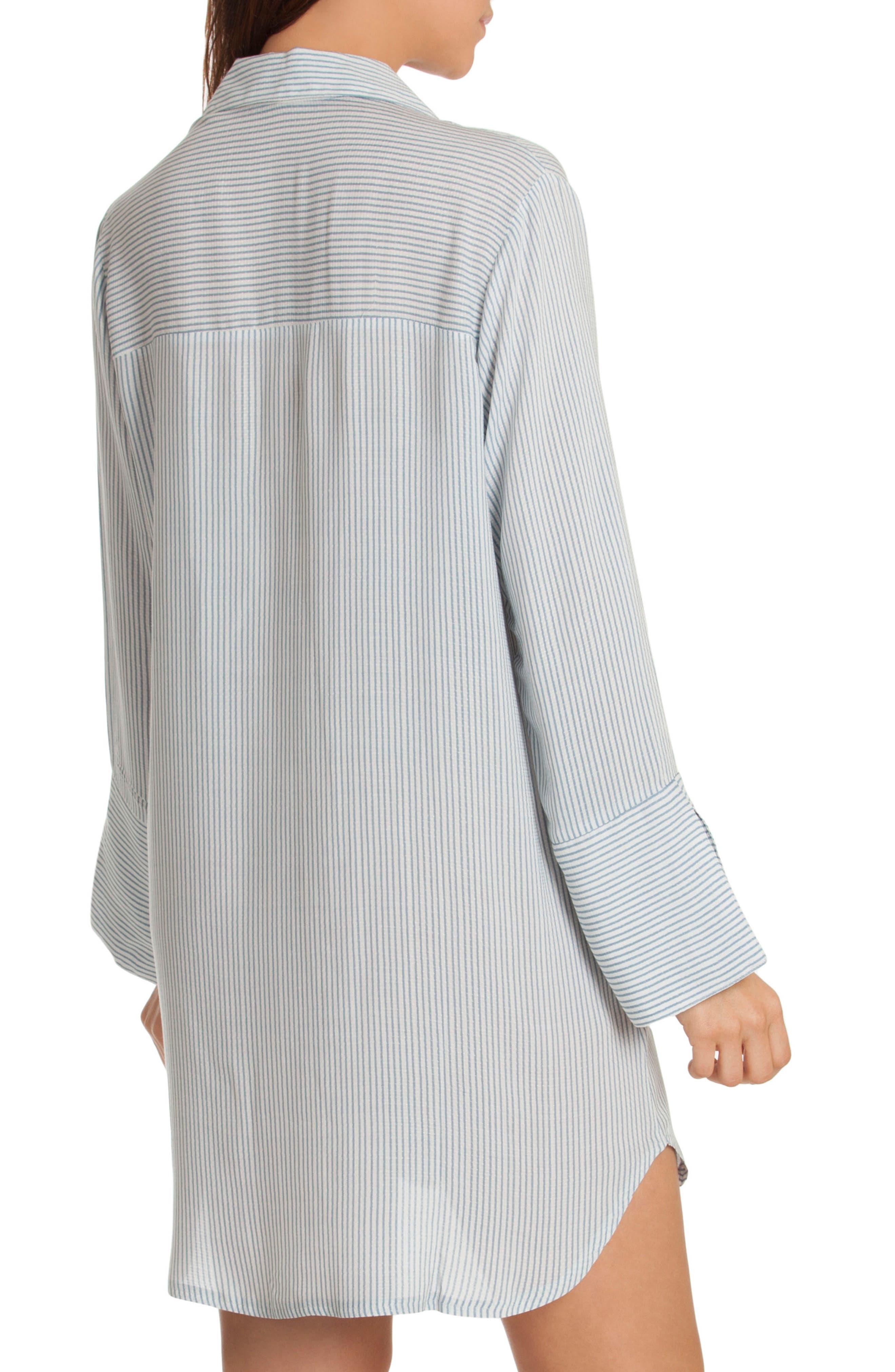 Sleep Shirt,                             Alternate thumbnail 2, color,                             Denim Stripe
