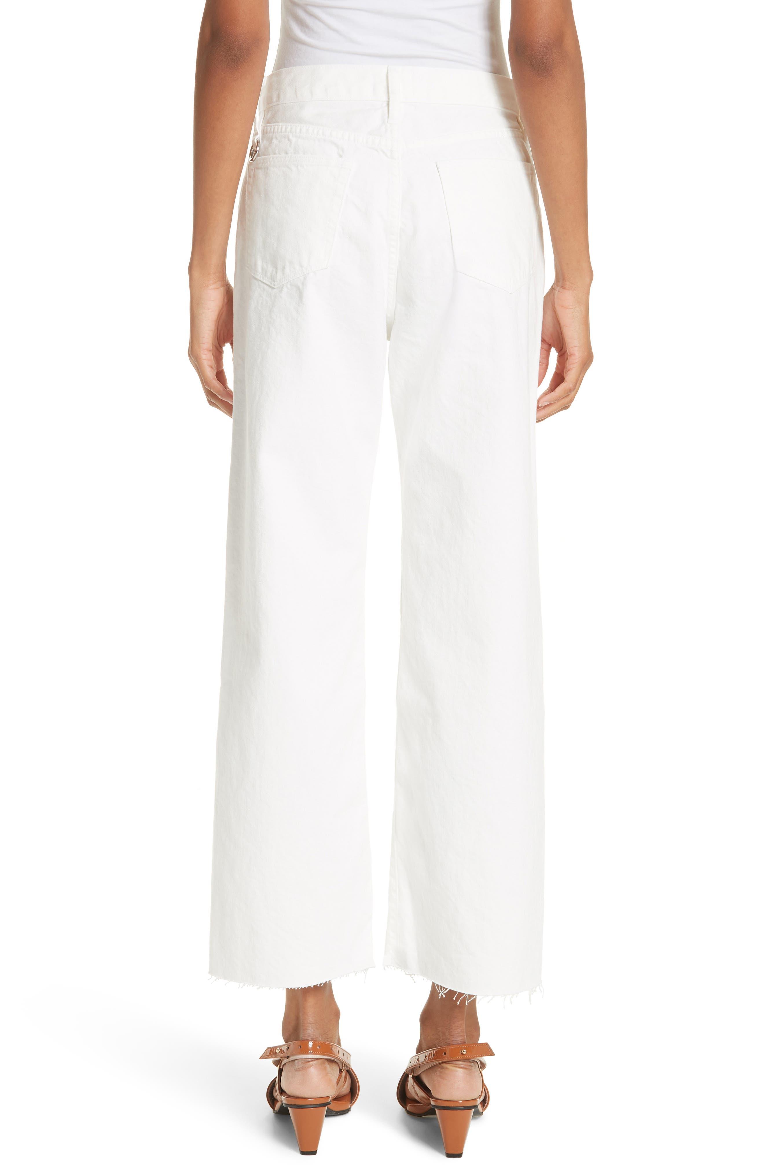 Lamere Wide Leg Crop Jeans,                             Alternate thumbnail 2, color,                             White