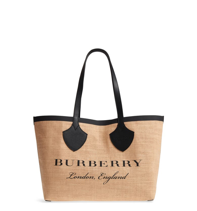 Burberry Medium Logo Print Jute Tote