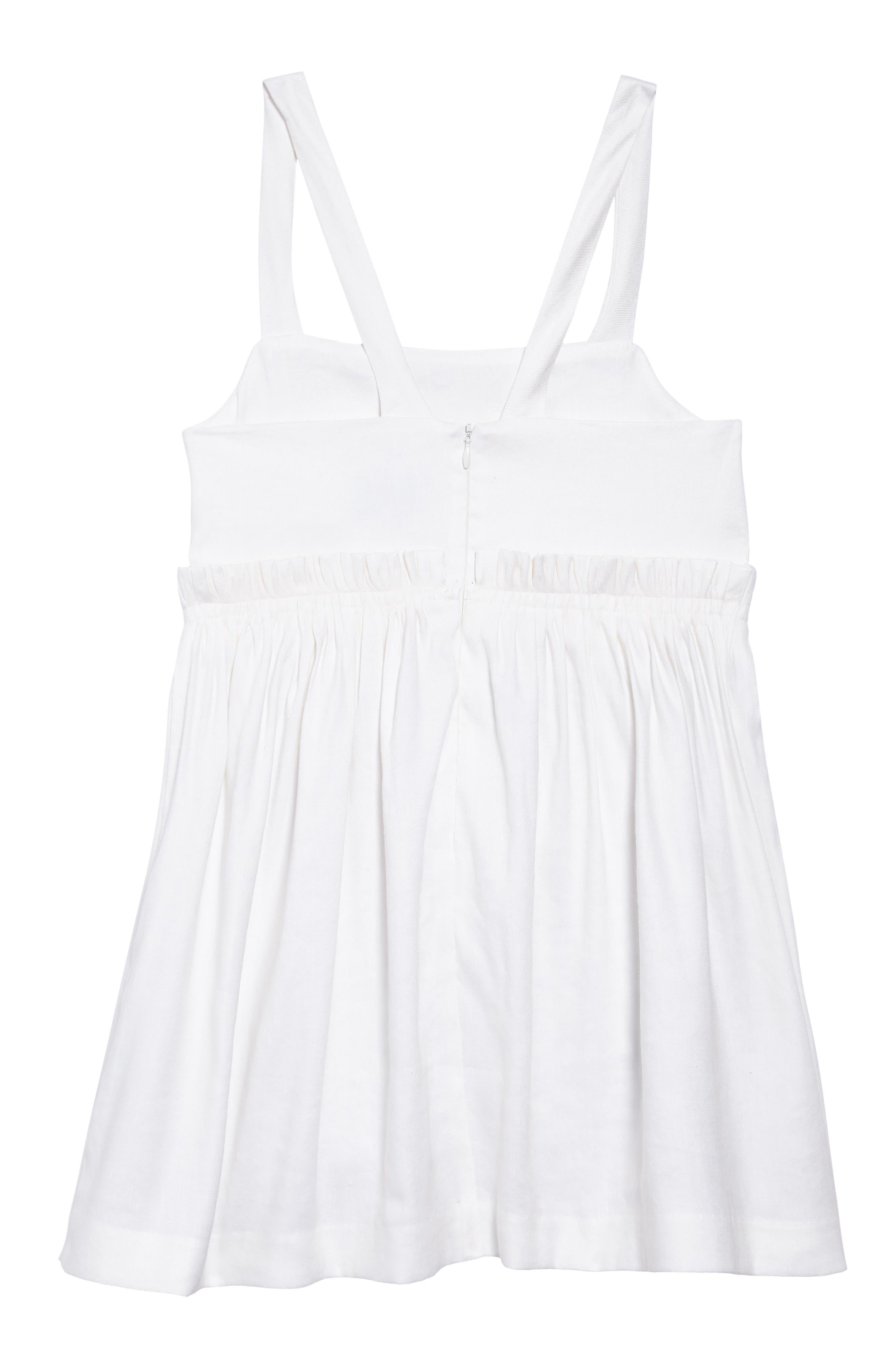 Jenny Linen Blend Dress,                             Alternate thumbnail 2, color,                             White