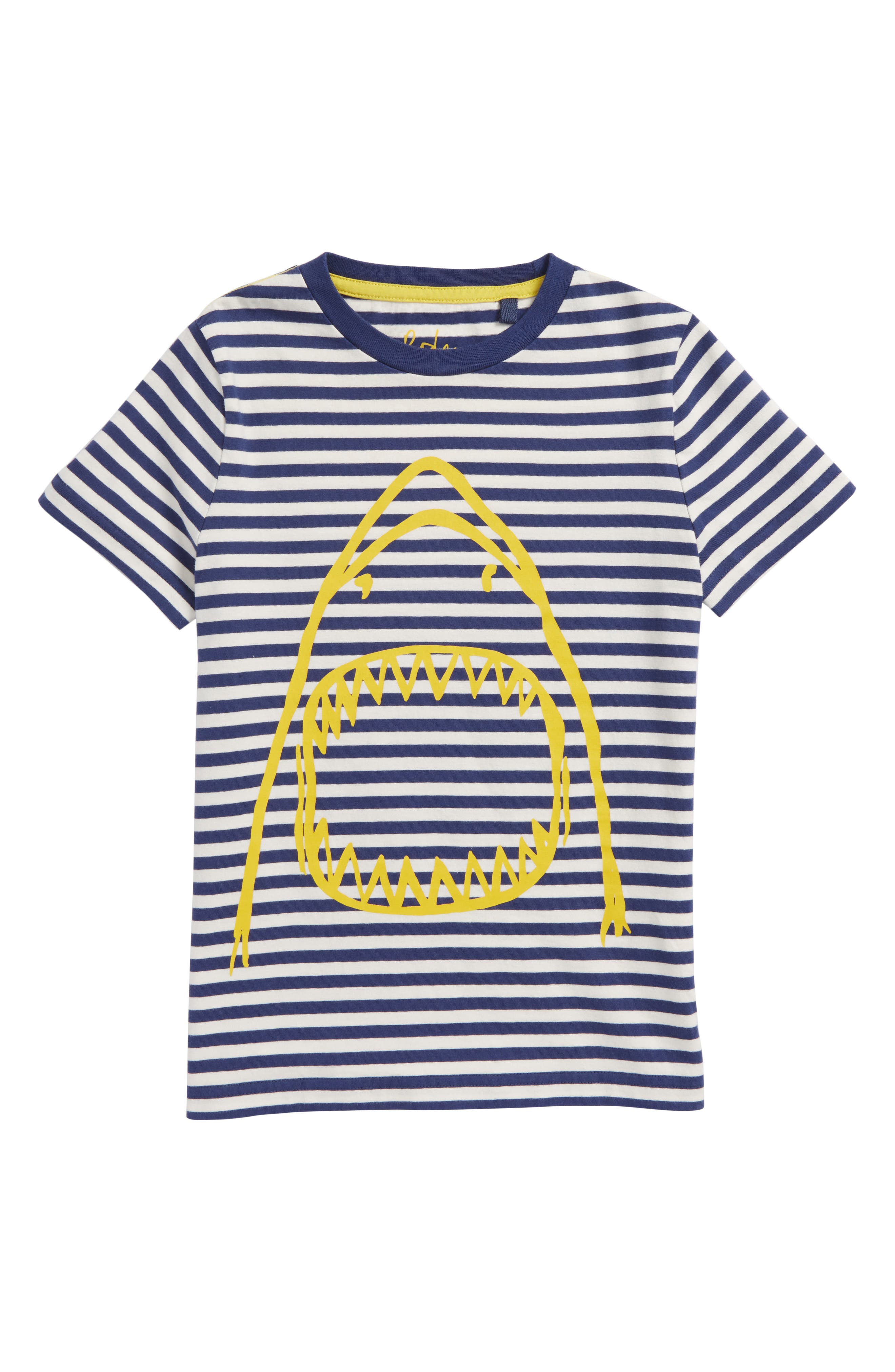 Arty Shark T-Shirt,                         Main,                         color, Beacon Blue/ Ecru Shark
