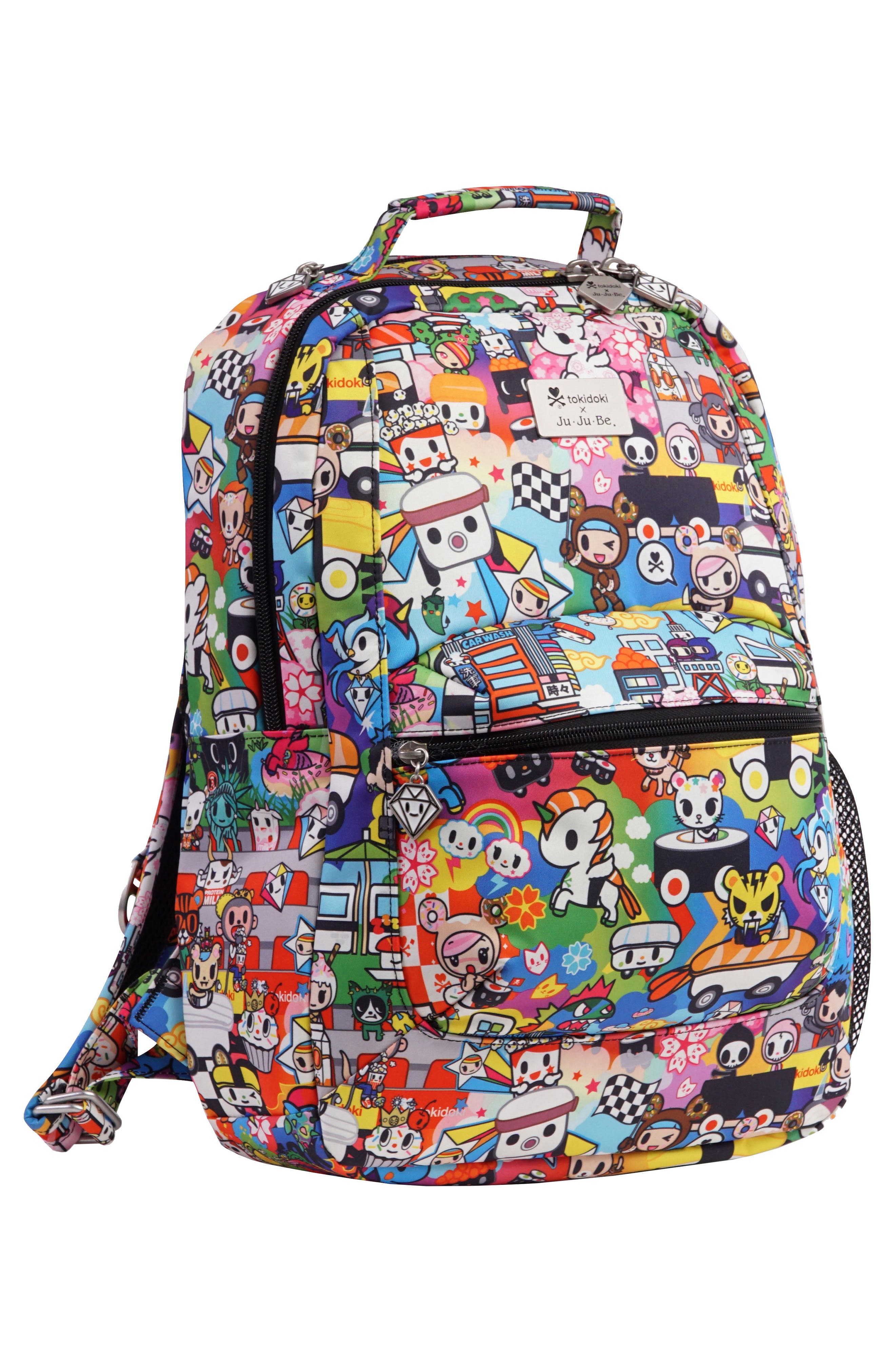 x tokidoki Be Packed Diaper Backpack,                             Alternate thumbnail 3, color,                             Sushi Cars