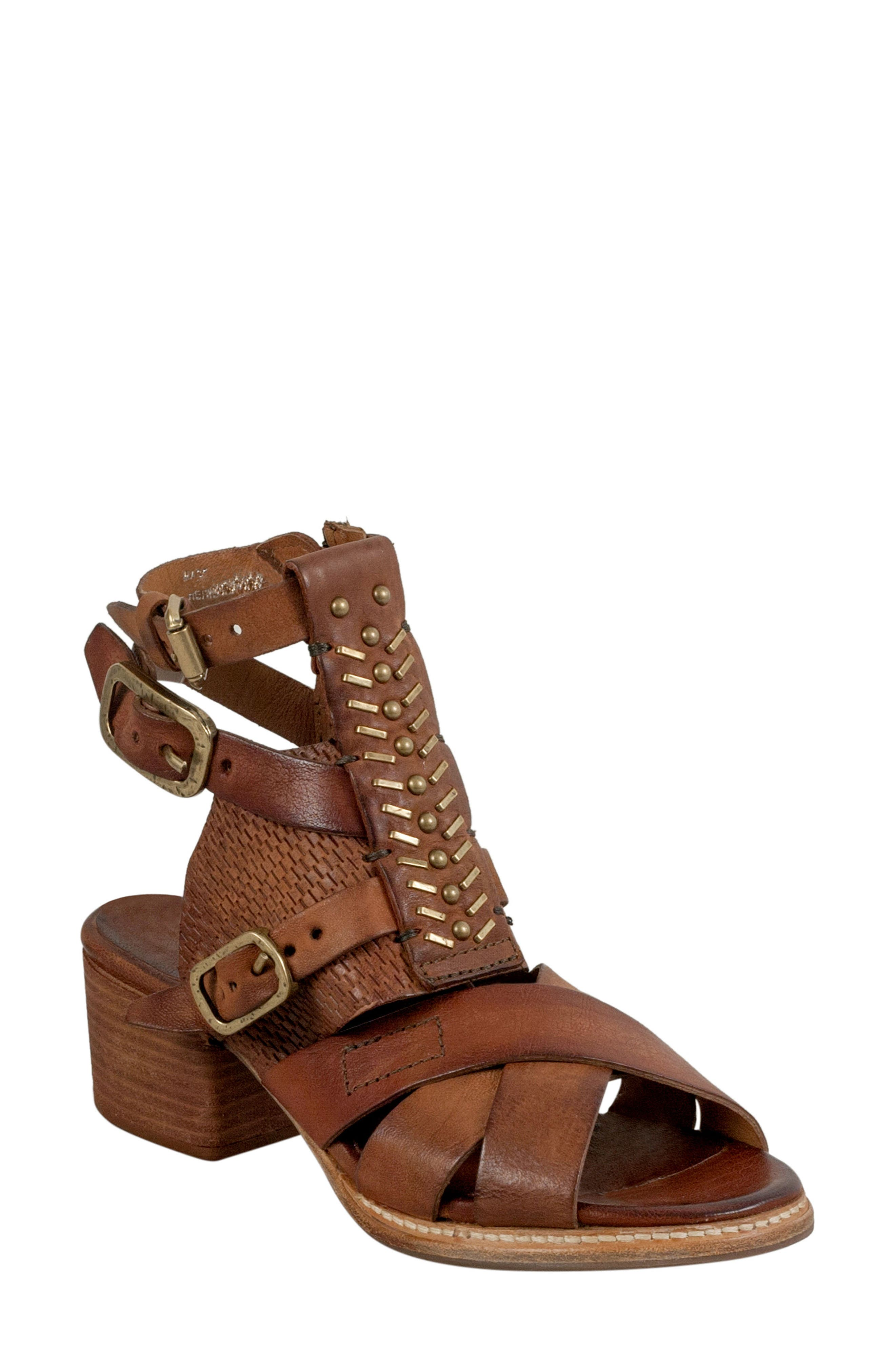 A.S.98 Pennie Gladiator Sandal, Cognac