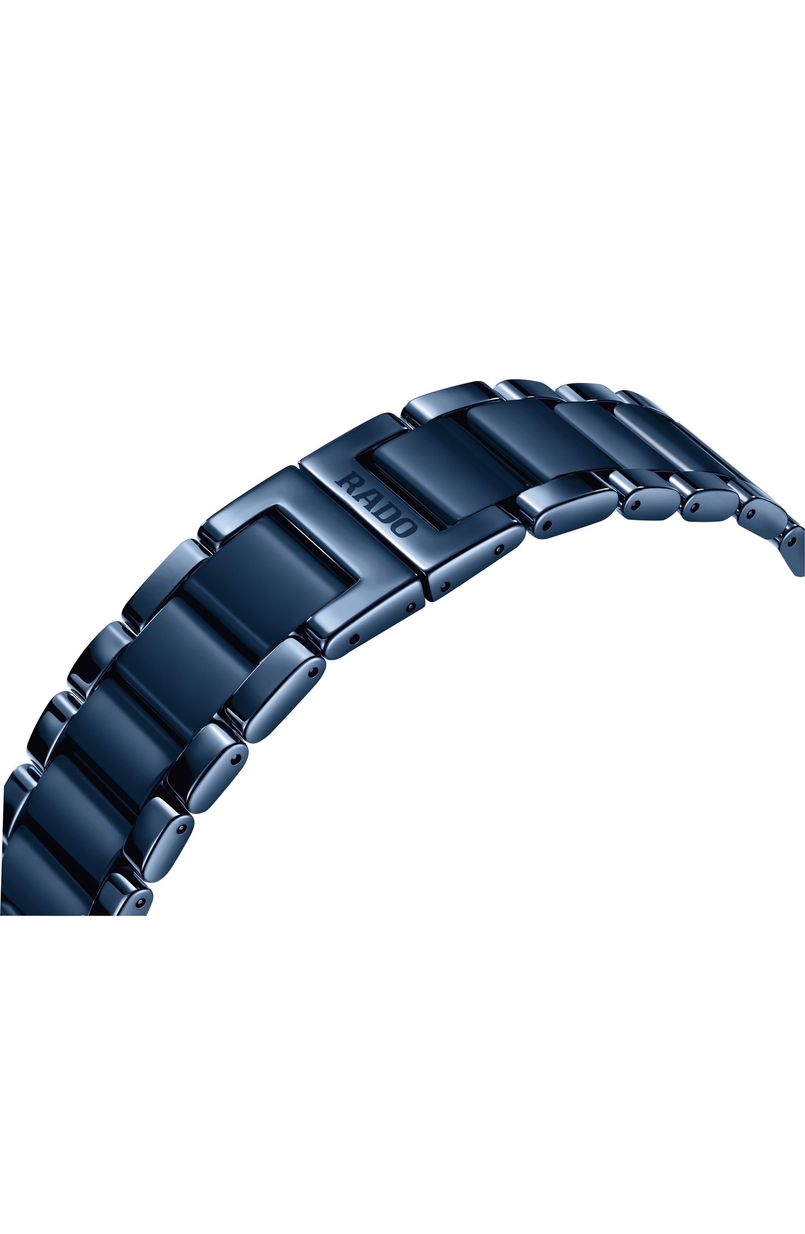 True Thinline Ceramic Bracelet Watch, 39mm,                             Alternate thumbnail 3, color,                             Navy