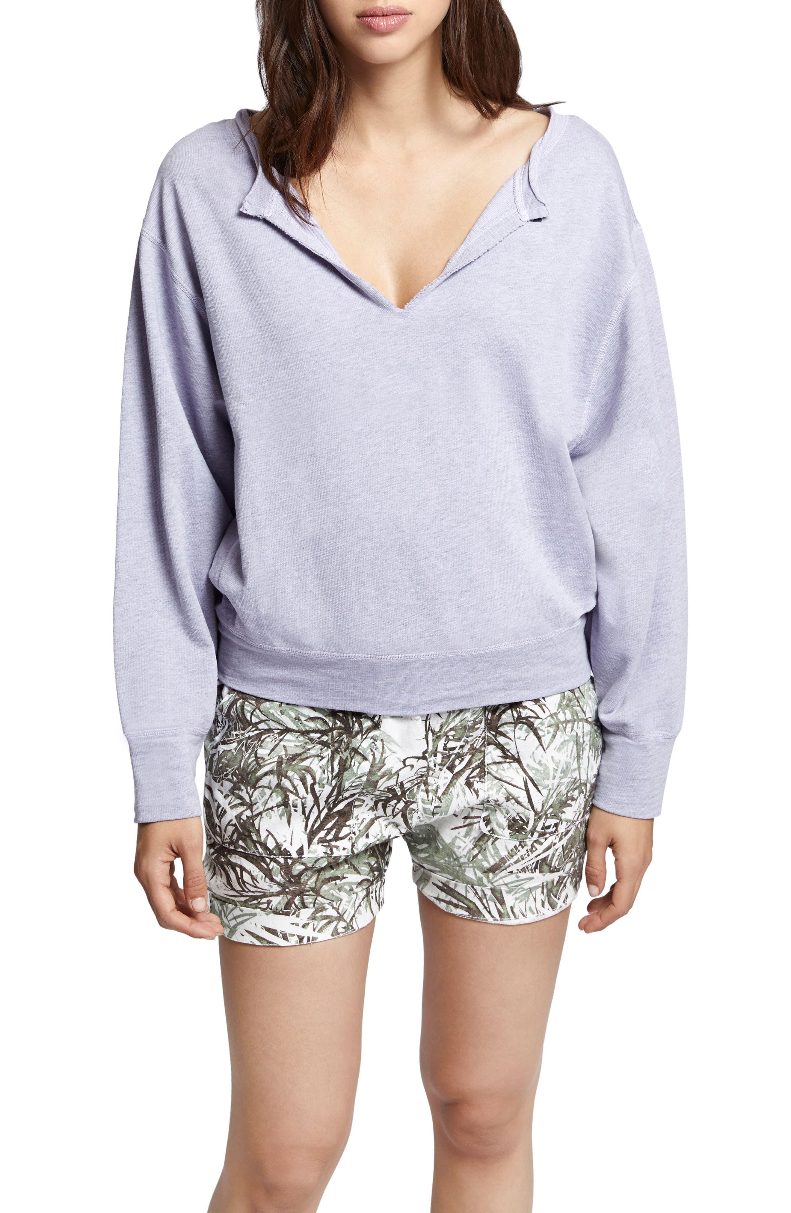 Breslin Split Neck Sweatshirt,                             Main thumbnail 1, color,                             Orchid
