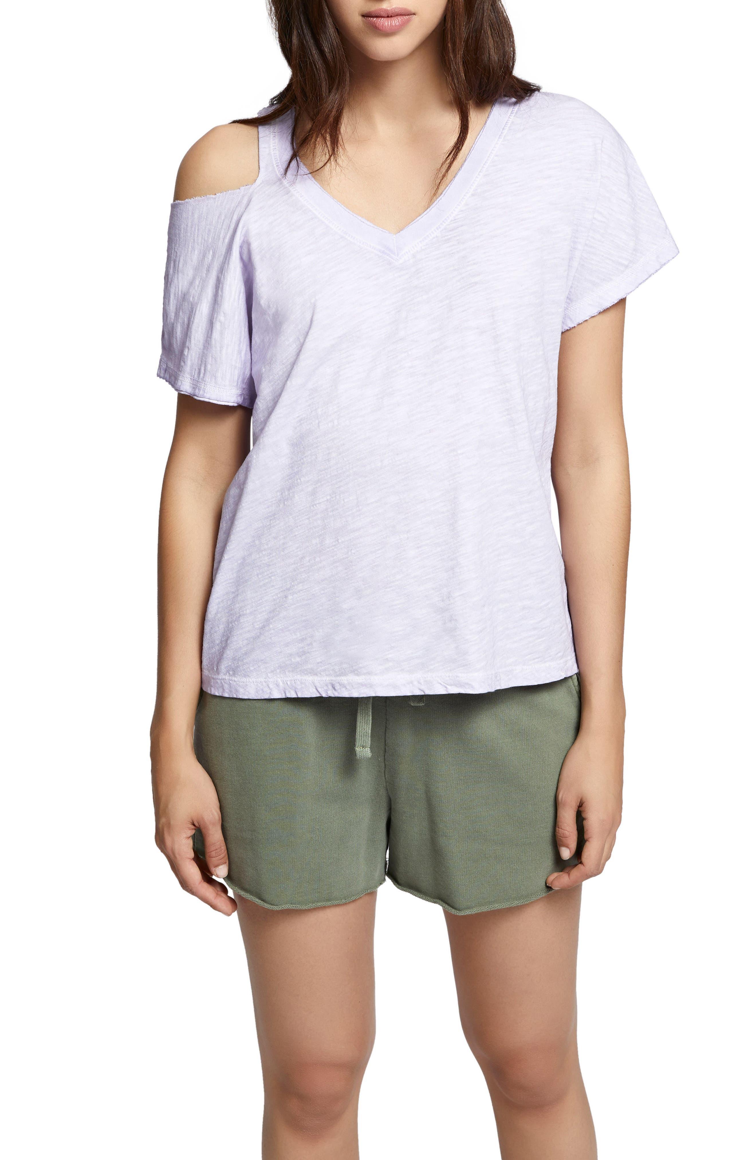 Sanctuary Shoulder Cutout Cotton Top