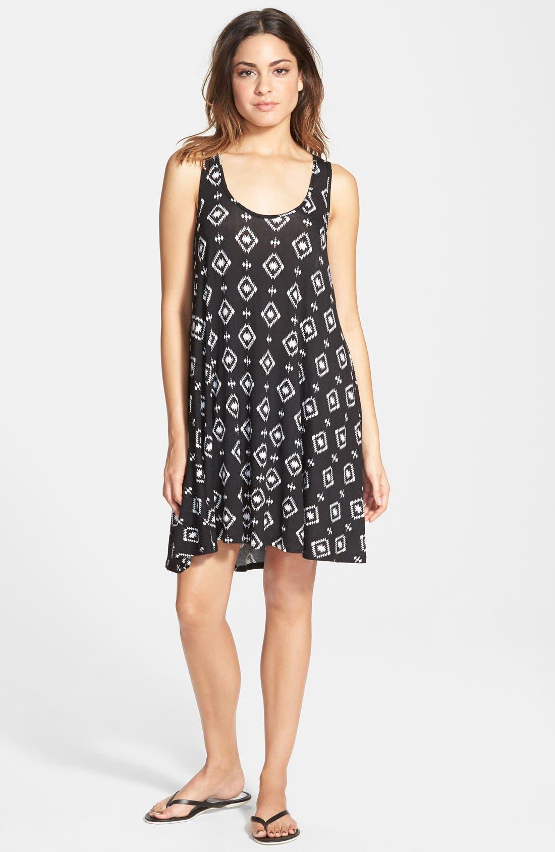Alternate Image 1 Selected - Socialite Print Tank Dress