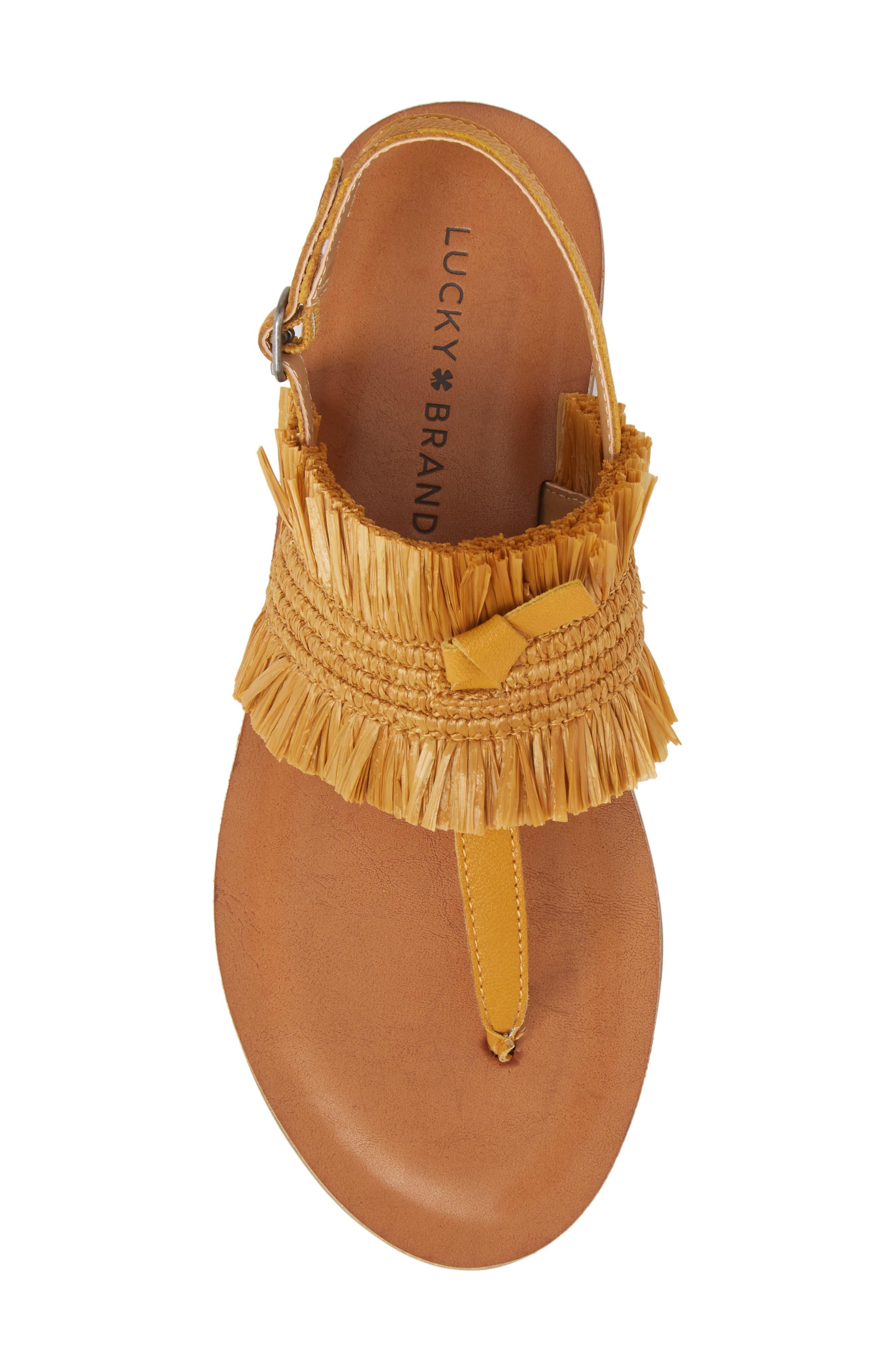 Akerlei Sandal,                             Alternate thumbnail 5, color,                             Saffron Leather