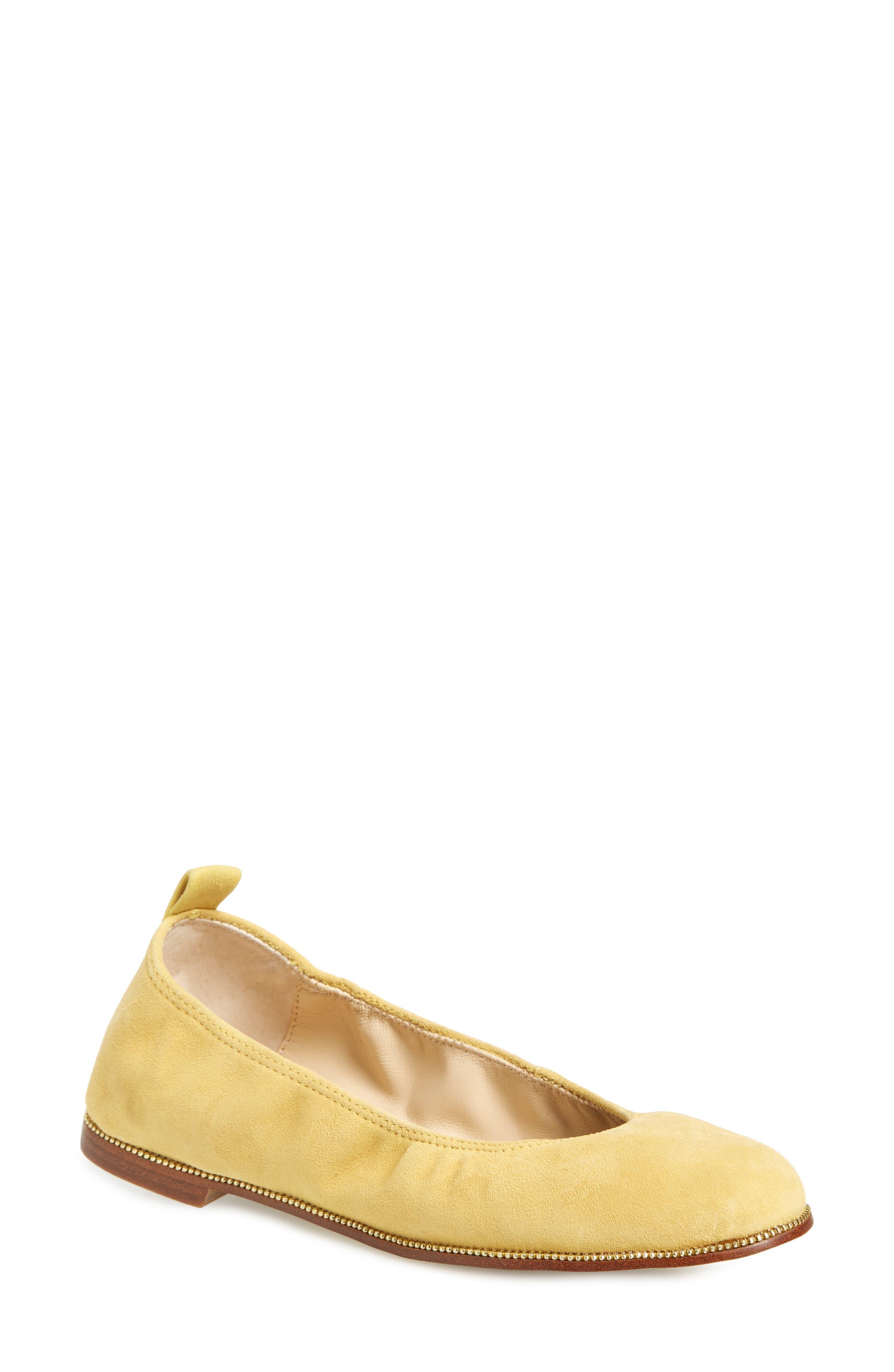 Mason Ballet Flat,                             Main thumbnail 1, color,                             Pineapple Suede