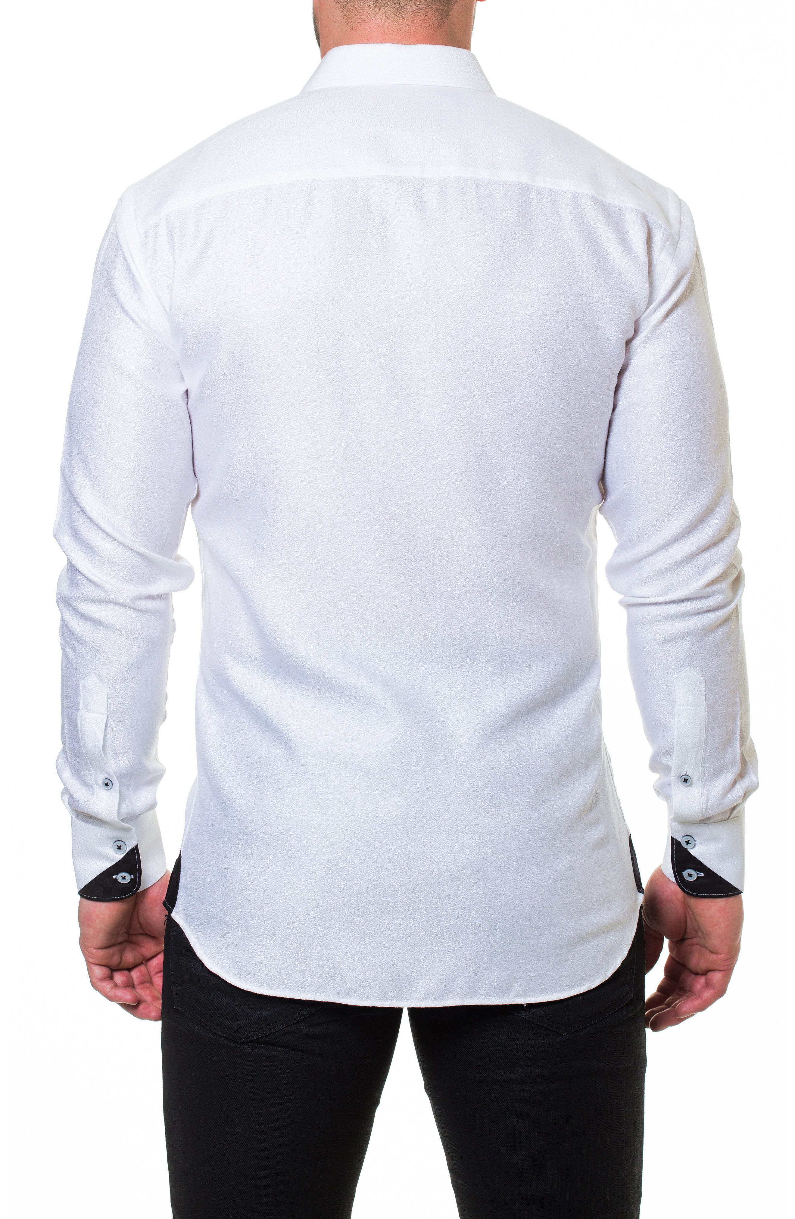 Wall Street Serenity White Slim Fit Sport Shirt,                             Alternate thumbnail 2, color,                             White