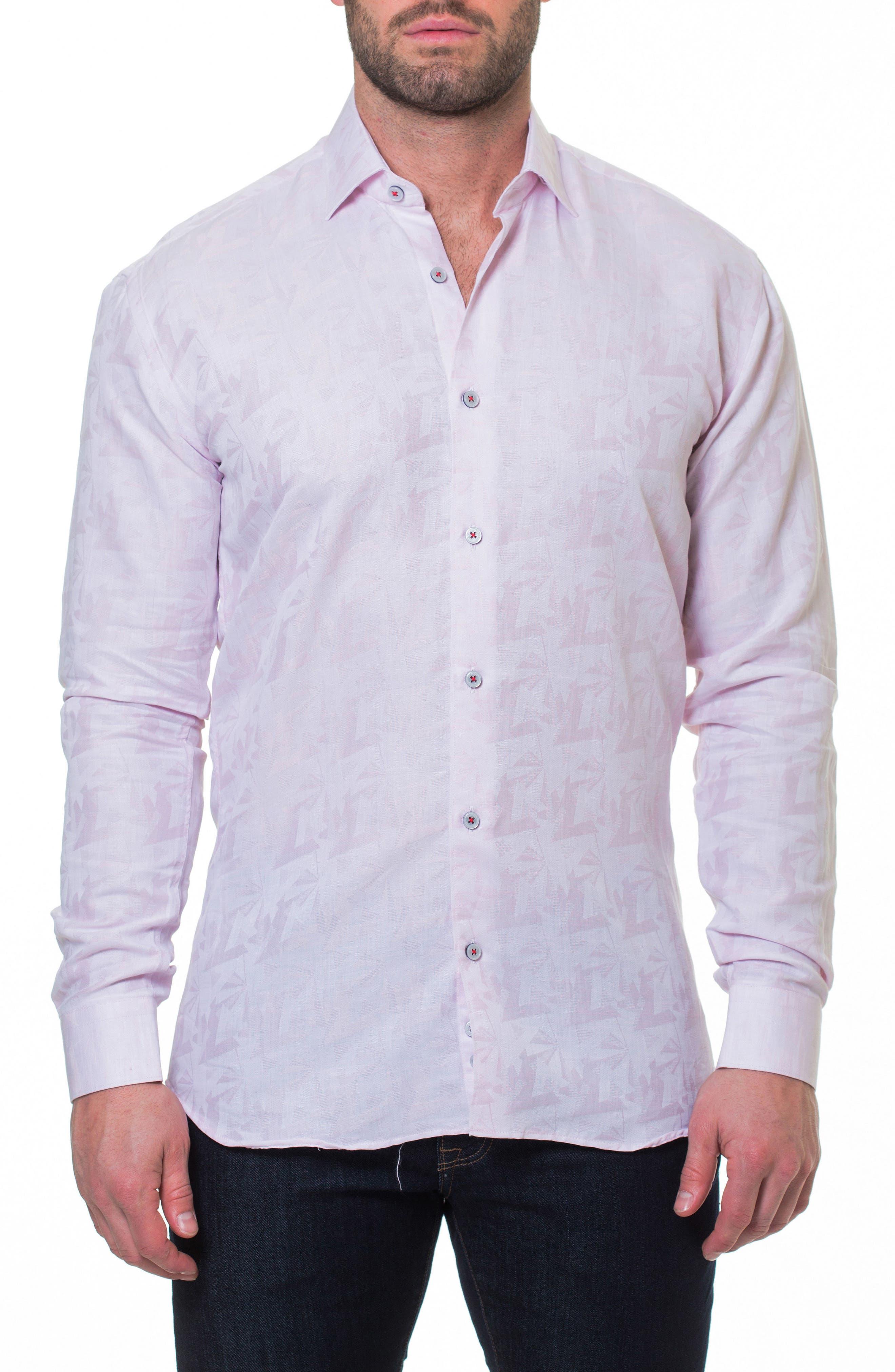 Wall Street Slim Fit Sport Shirt,                         Main,                         color, Pink
