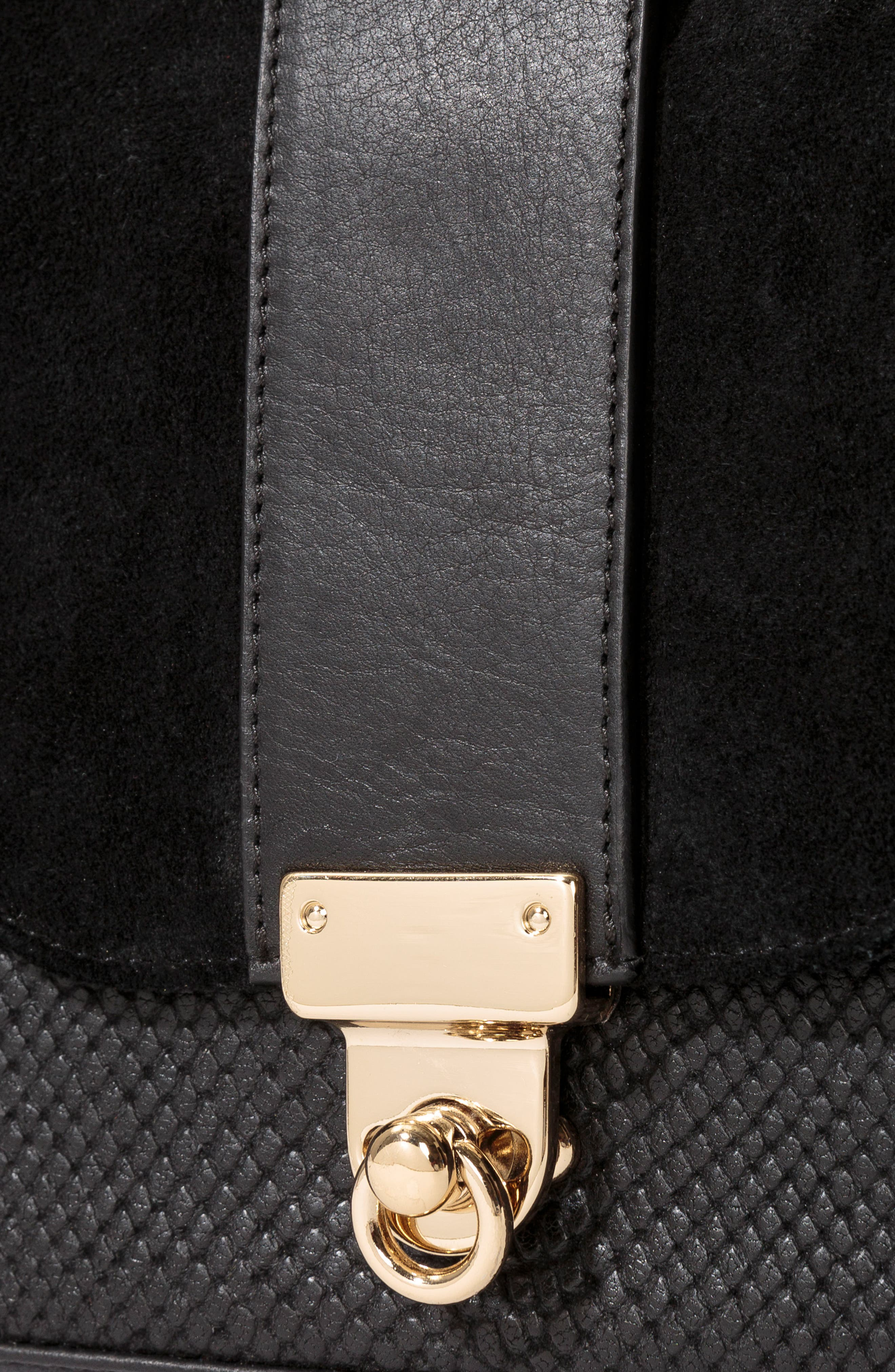 Tiger Crossbody Bag,                             Alternate thumbnail 6, color,                             Black