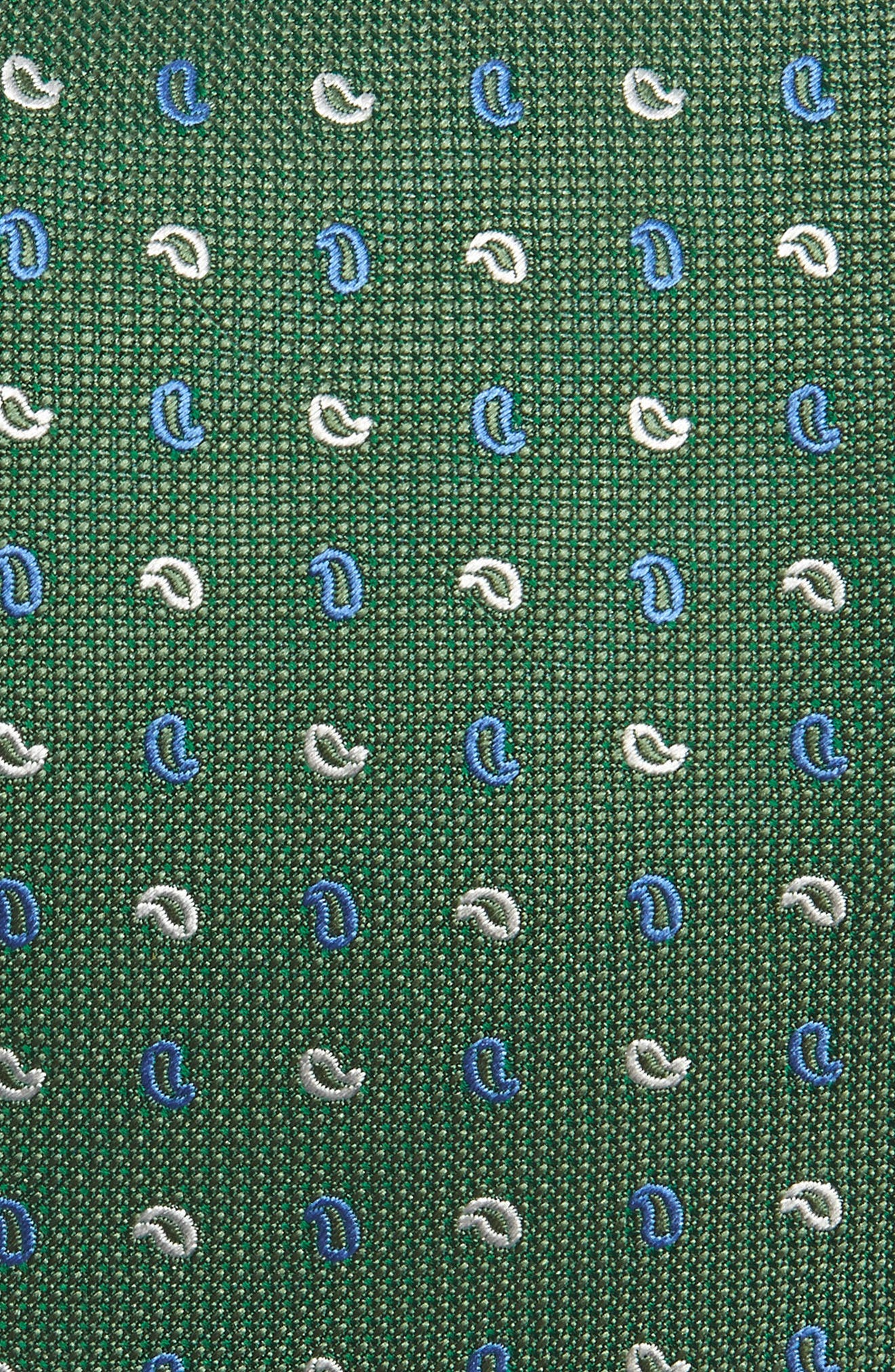 Paisley Silk Tie,                             Alternate thumbnail 2, color,                             Grass