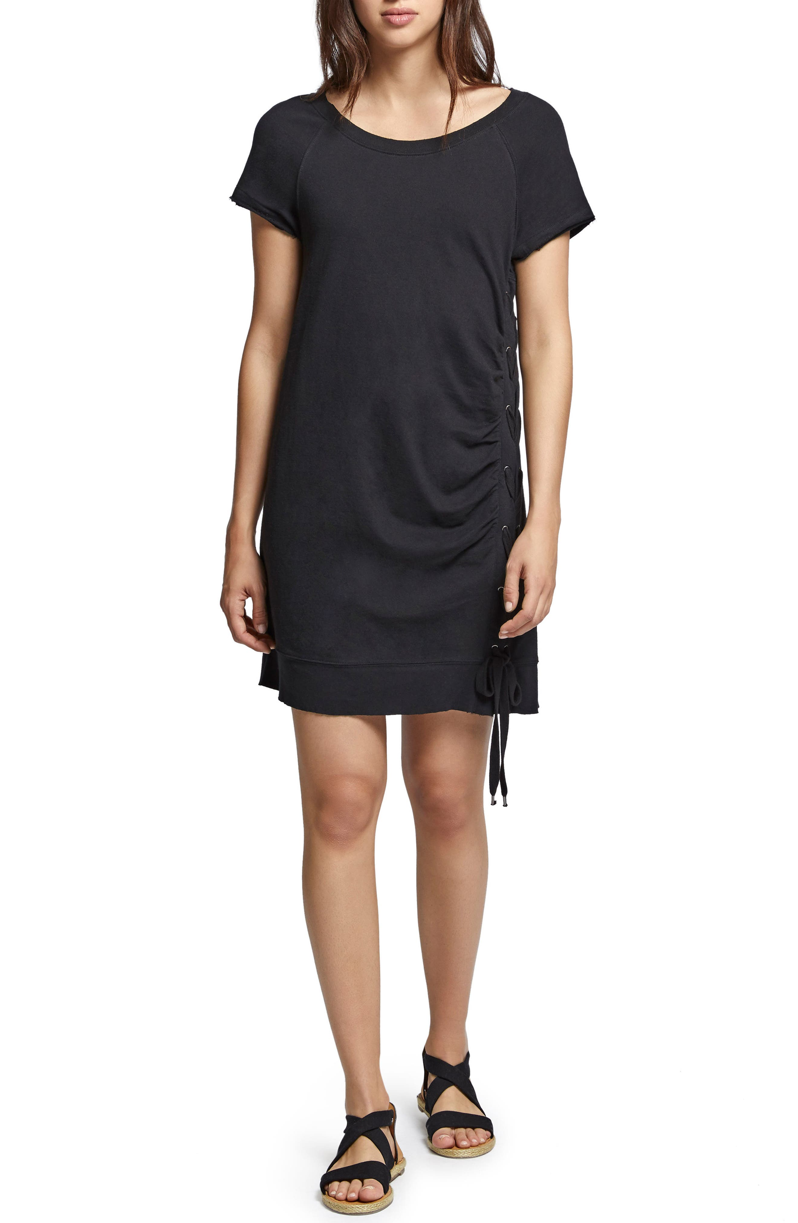Sanctuary Bryce Lace-Up Cotton Dress (Regular & Petite)