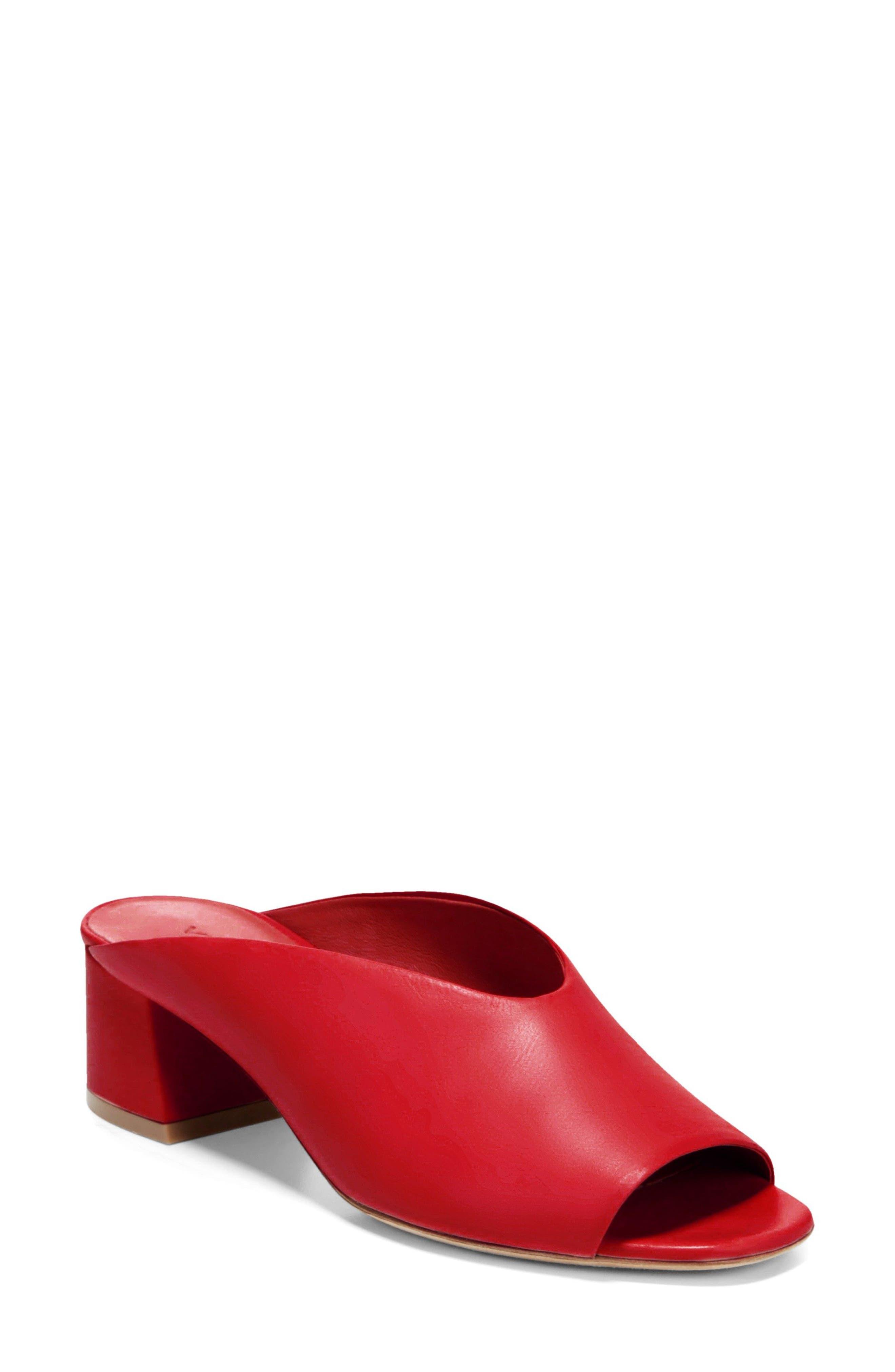 Cachet Sandal,                             Main thumbnail 1, color,                             Red