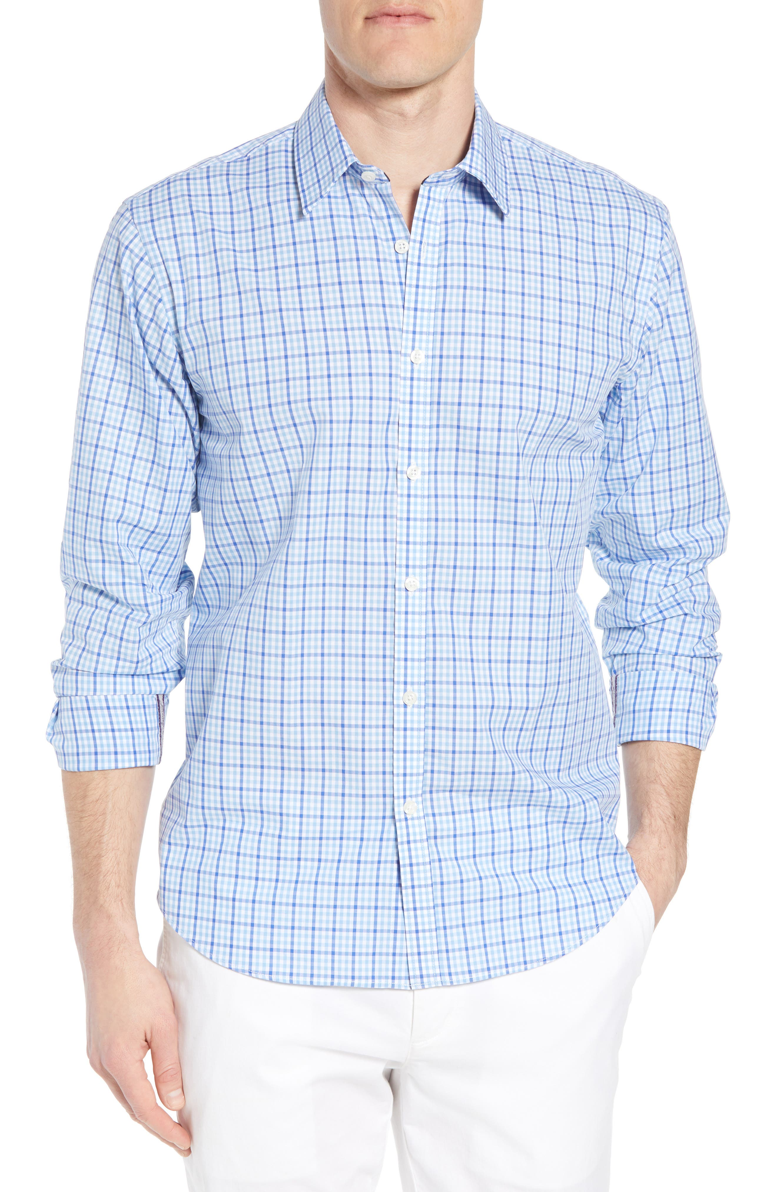 Jeremy Argyle Slim Fit Grid Sport Shirt