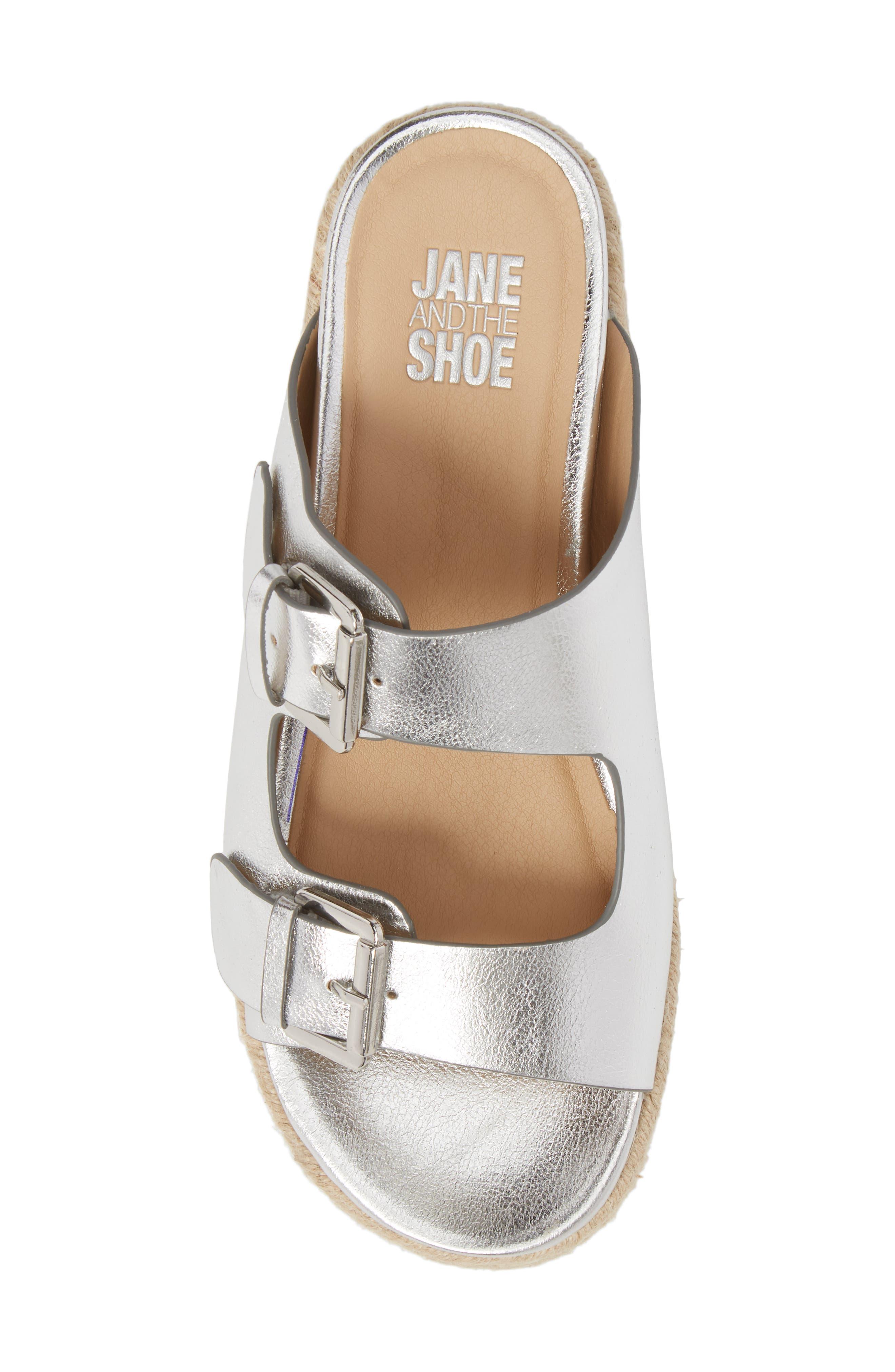 Jojo Two-Buckle Slide Sandal,                             Alternate thumbnail 5, color,                             Silver