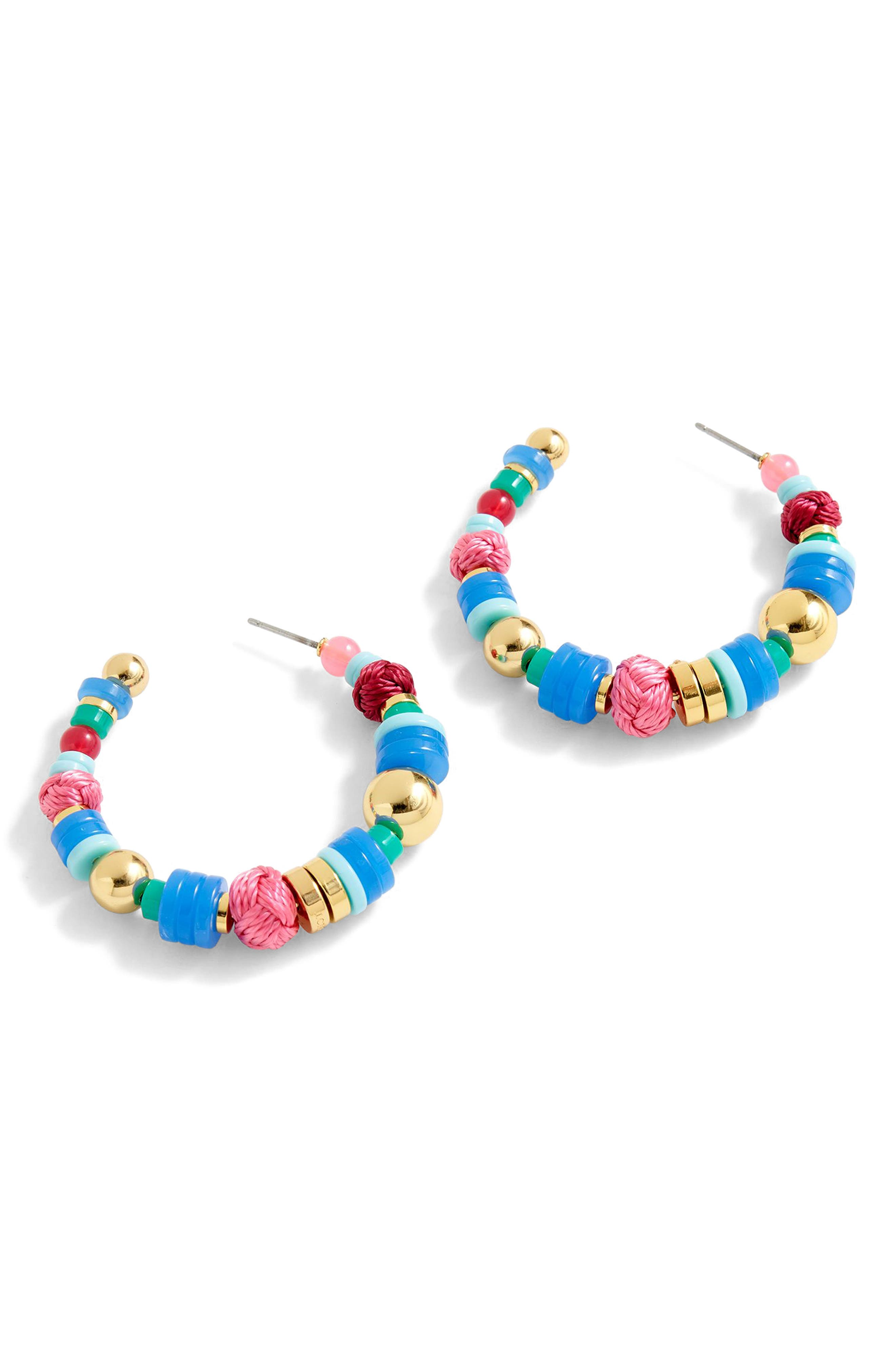 J.Crew Bubblegum Hoop Earrings