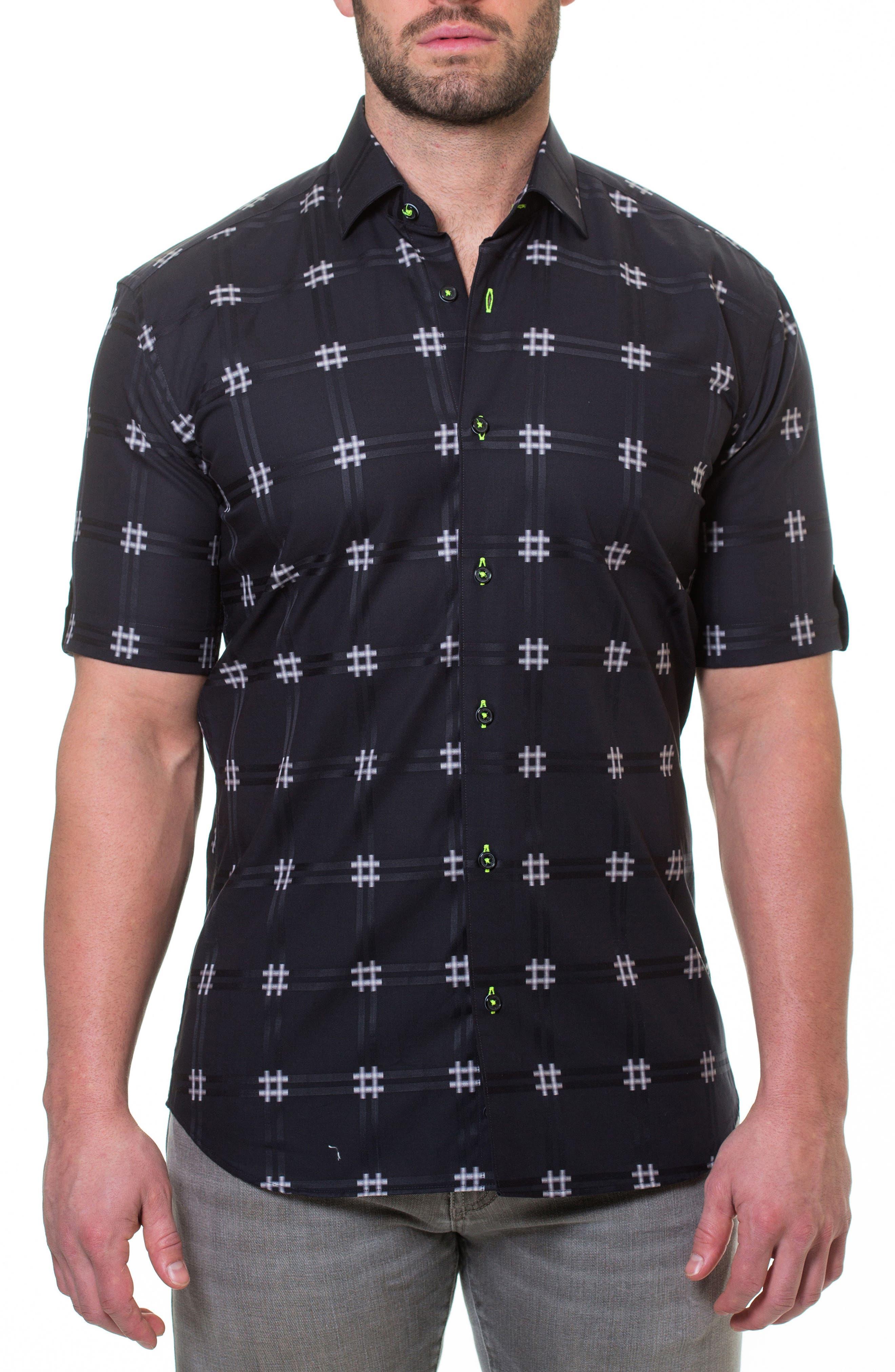 Fresh Pound Slim Fit Sport Shirt,                             Main thumbnail 1, color,                             Black