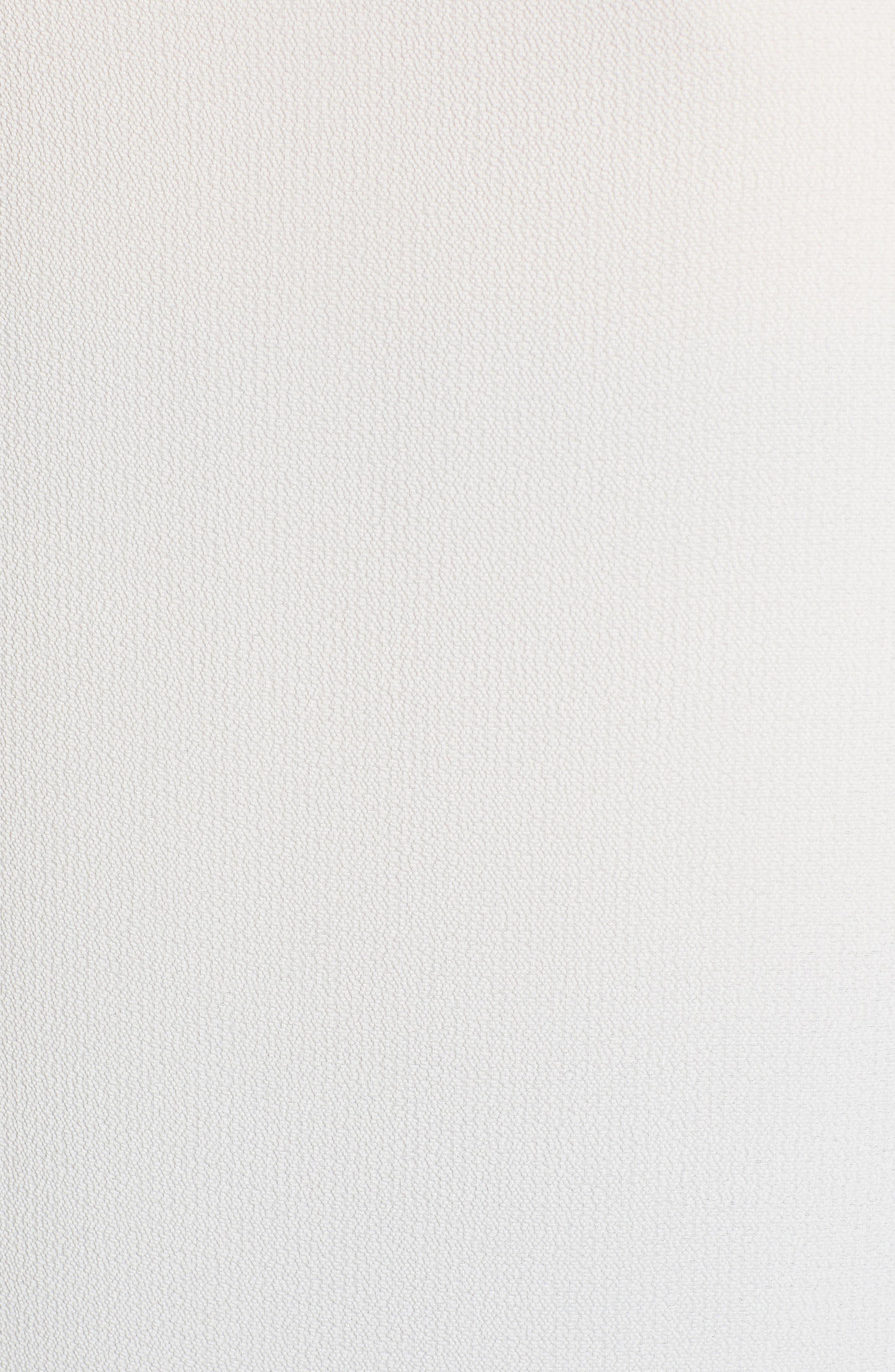 Lace Detail Stretch Crepe Tank Top,                             Alternate thumbnail 6, color,                             Ivory Cloud
