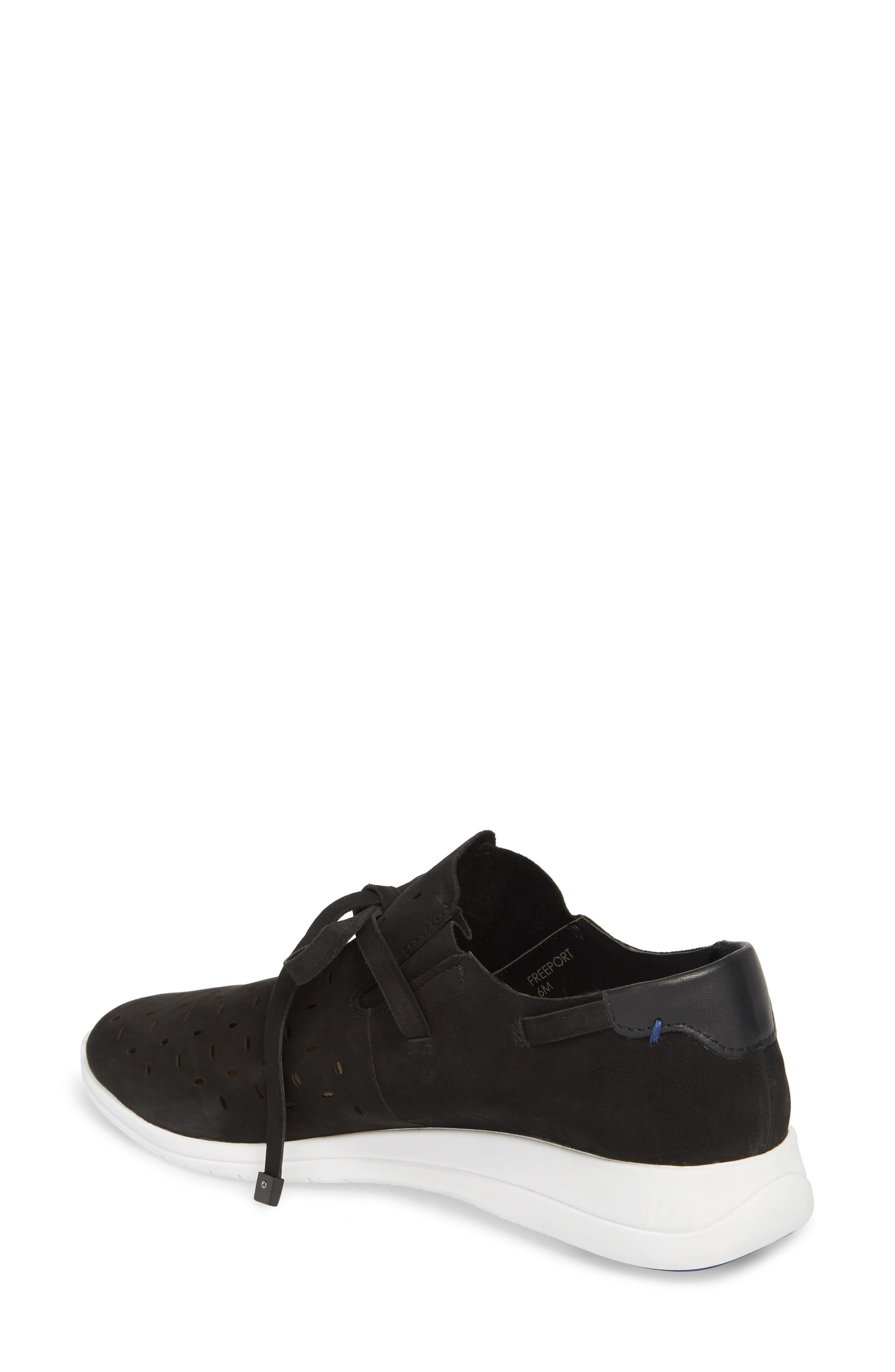 Freeport Sneaker,                             Alternate thumbnail 2, color,                             Black Nubuck