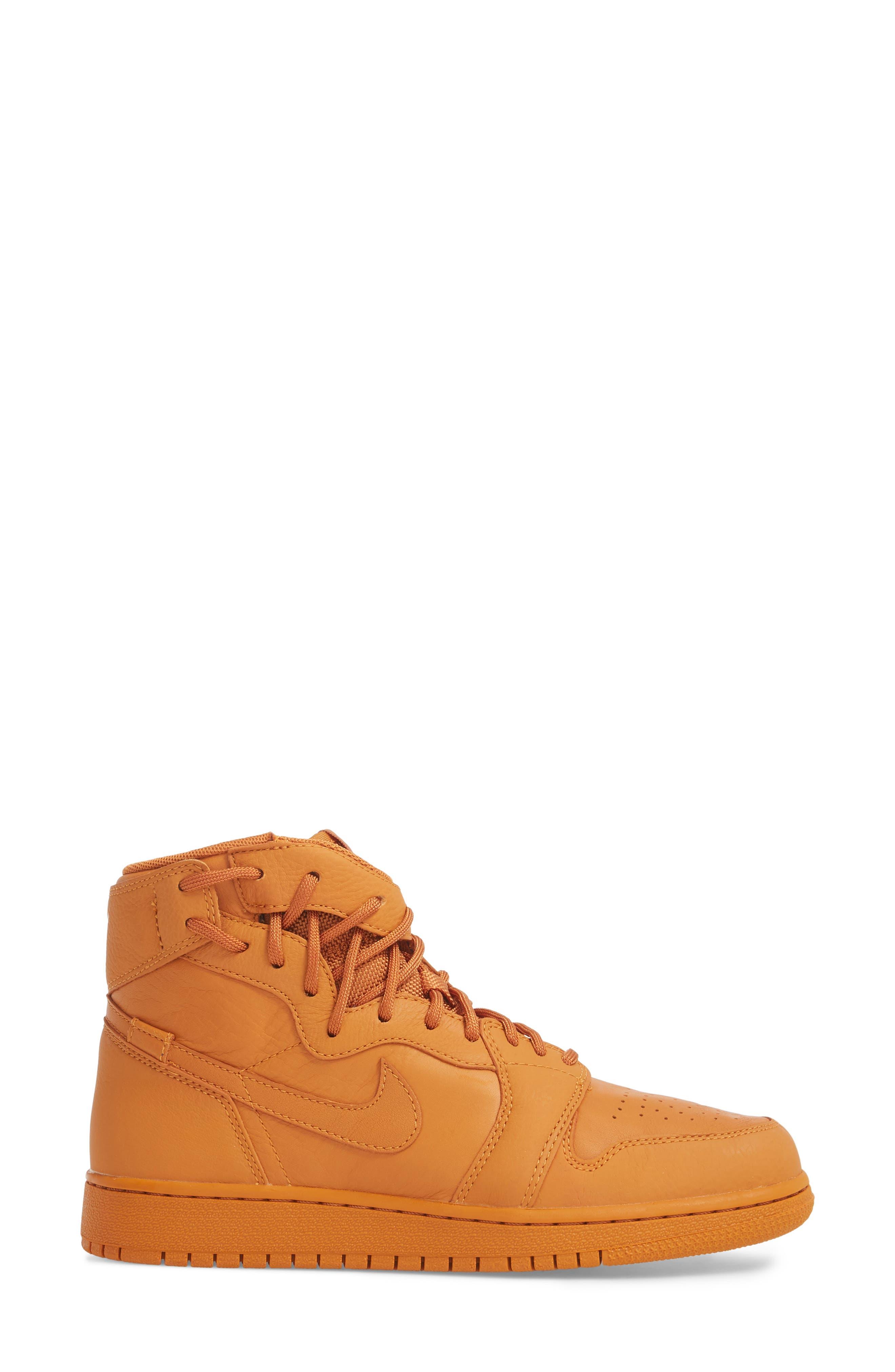 Air Jordan 1 Rebel XX High Top Sneaker,                             Alternate thumbnail 3, color,                             Cinder Orange