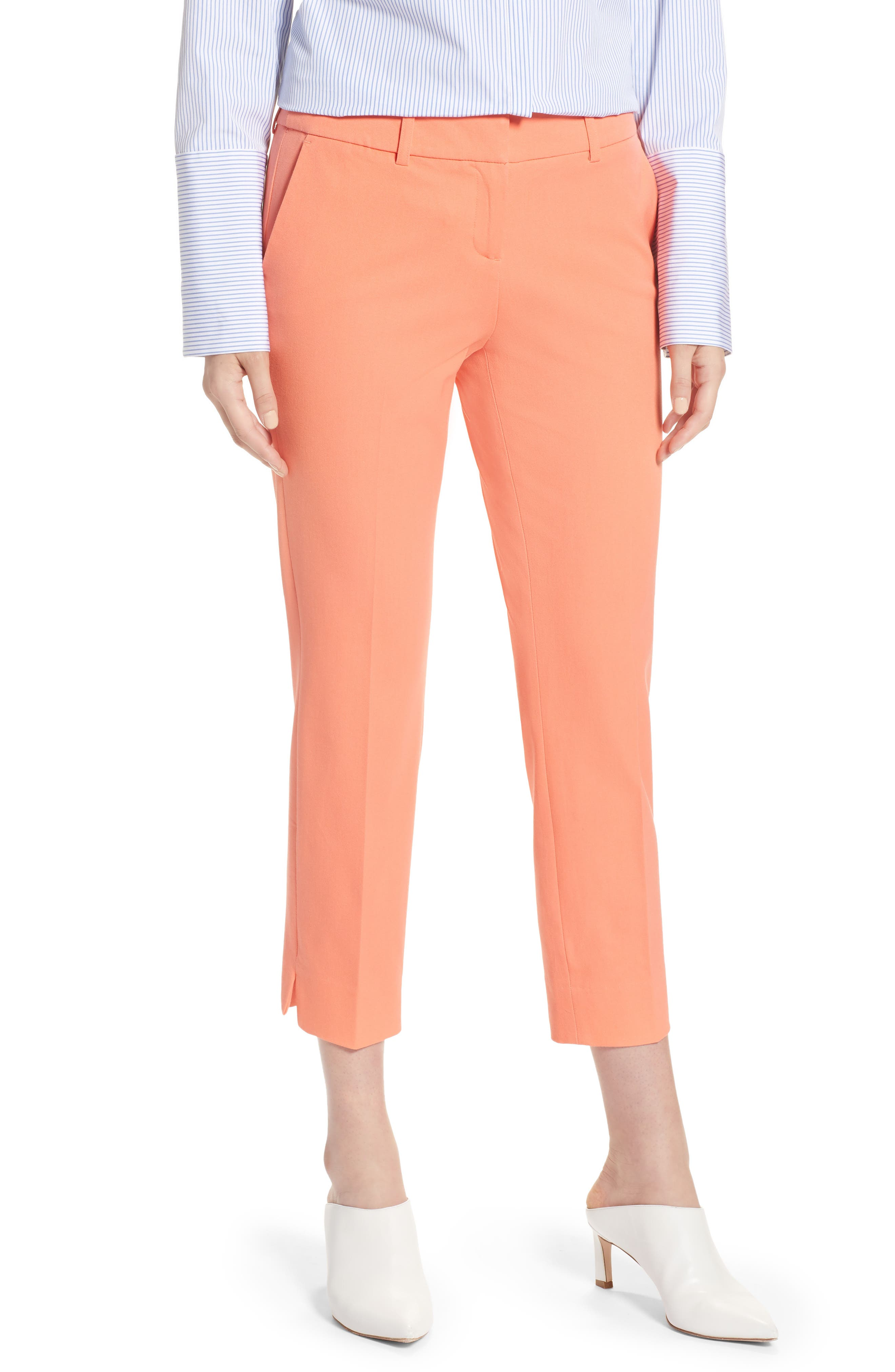Main Image - Halogen® Crop Stretch Cotton Pants (Regular & Petite)