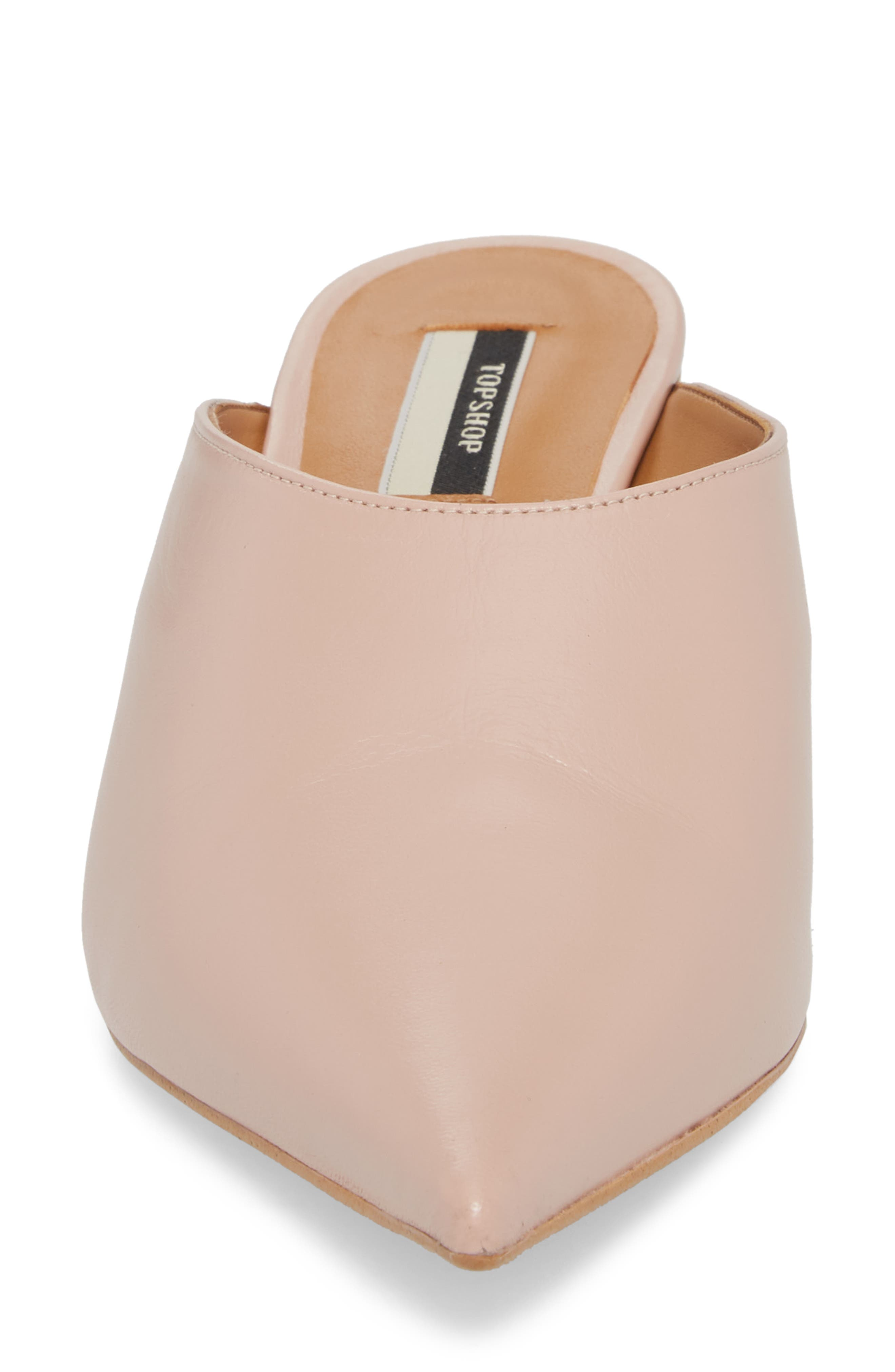 Juniper Ball Heel Mule,                             Alternate thumbnail 4, color,                             Light Pink