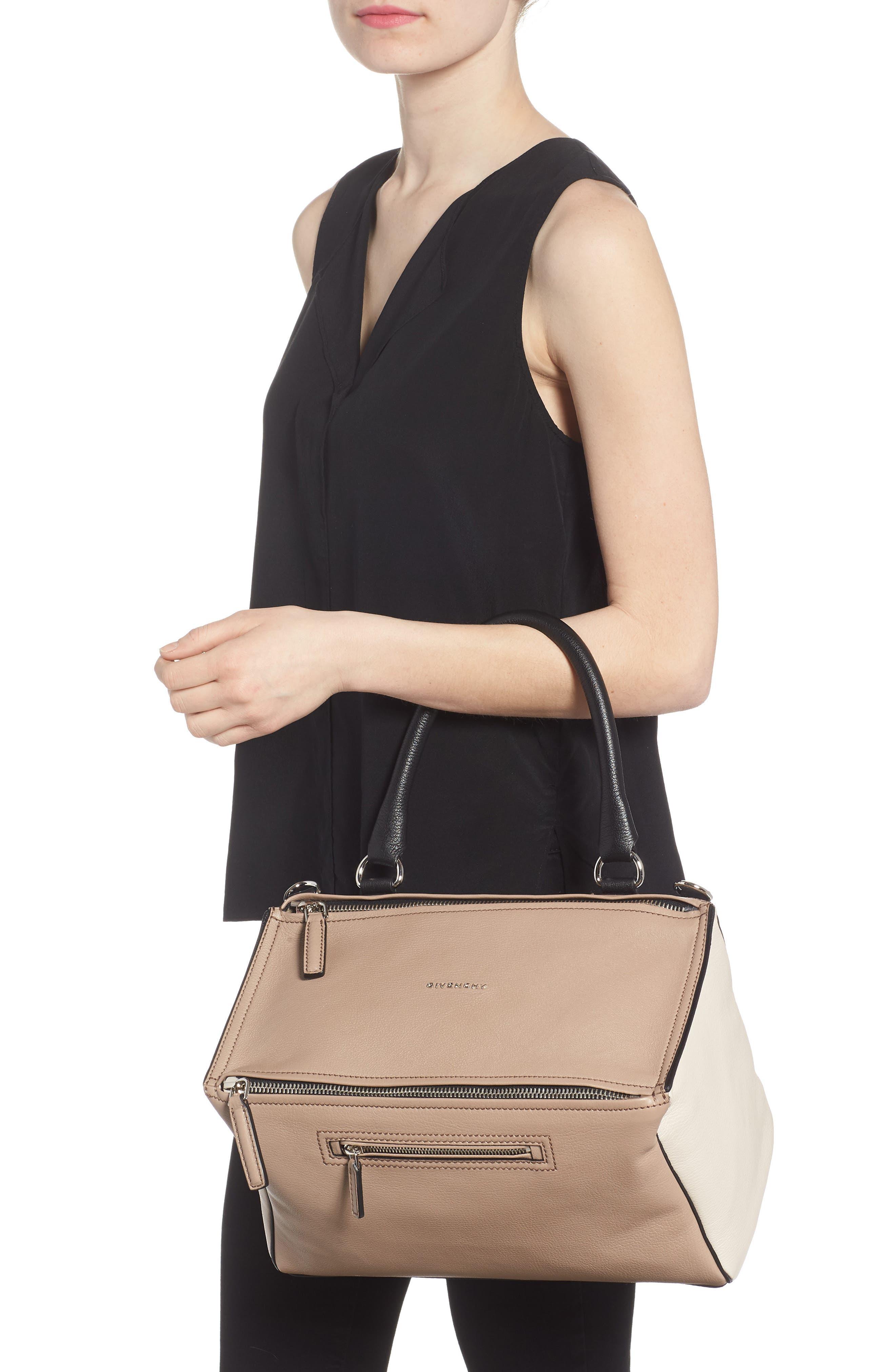 Medium Pandora Box Tricolor Leather Crossbody Bag,                             Alternate thumbnail 2, color,                             Linen