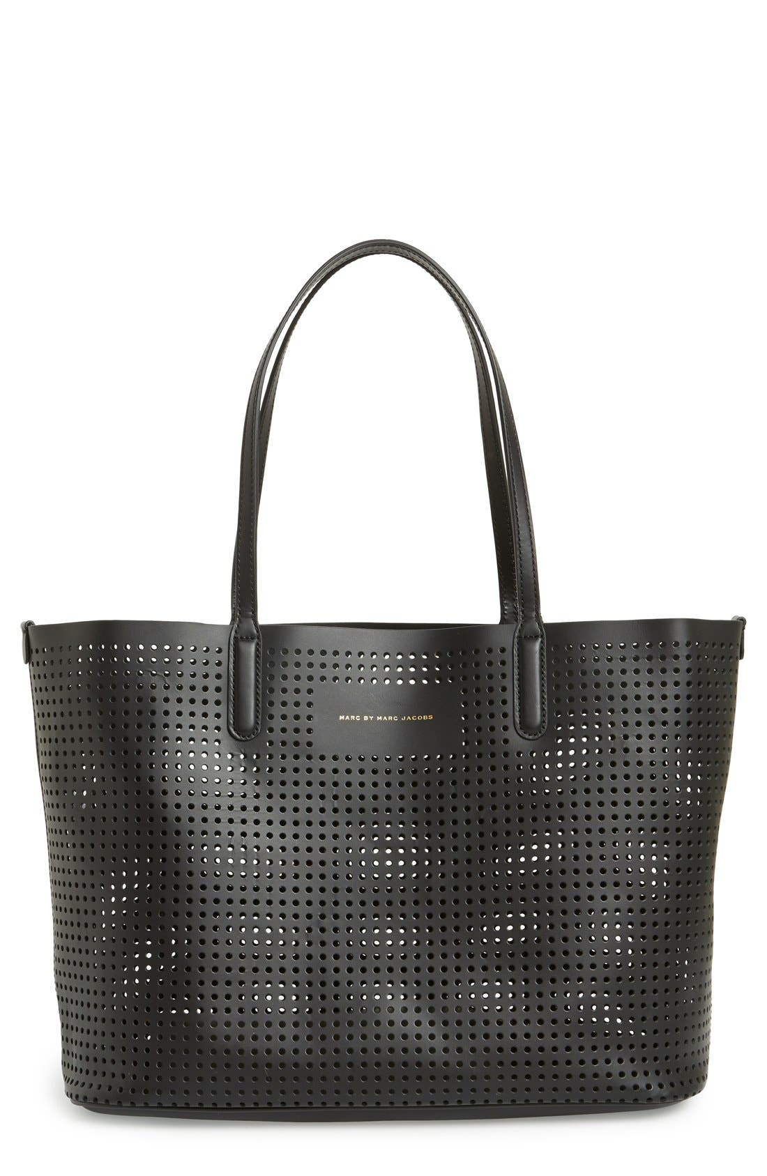 Main Image - MARC BY MARC JACOBS 'Metropolitote 48' Perforated Leather Tote