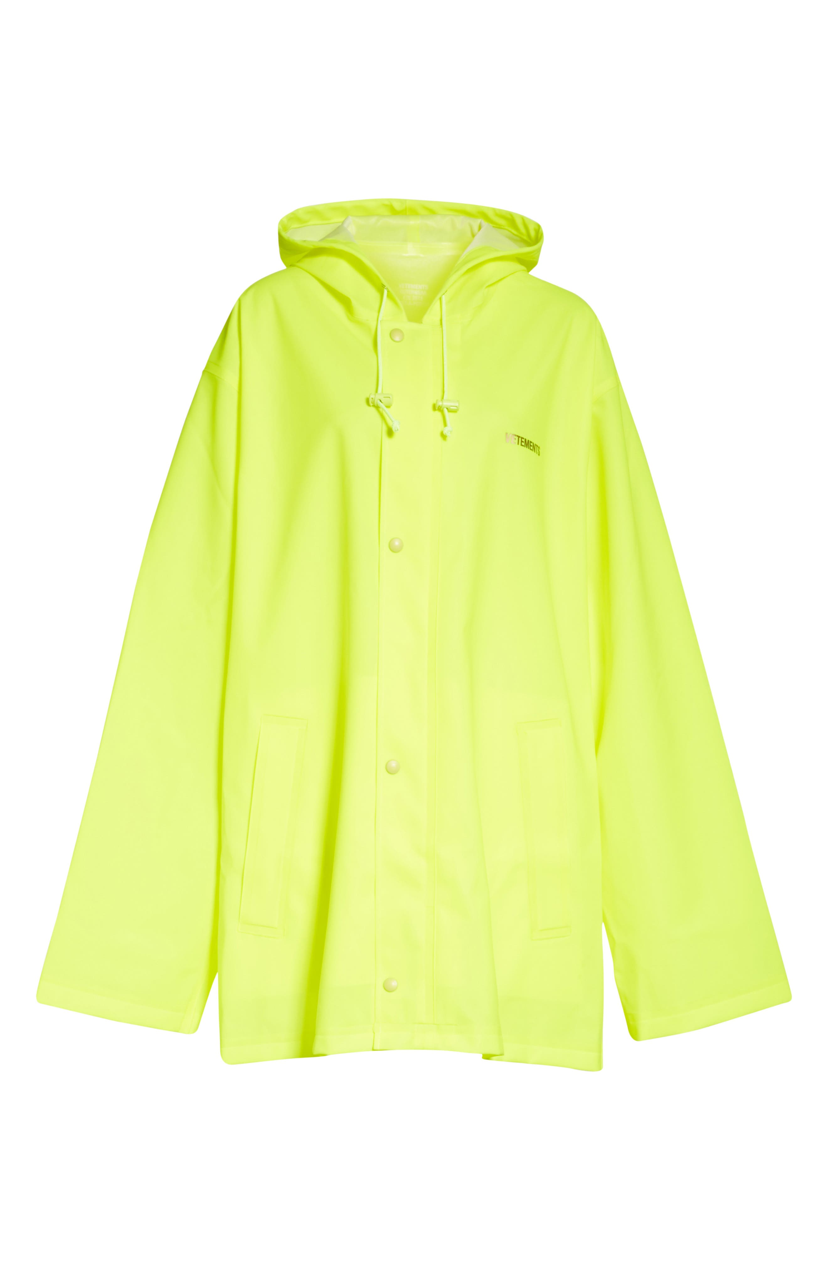 Alternate Image 6  - Vetements Short Logo Raincoat