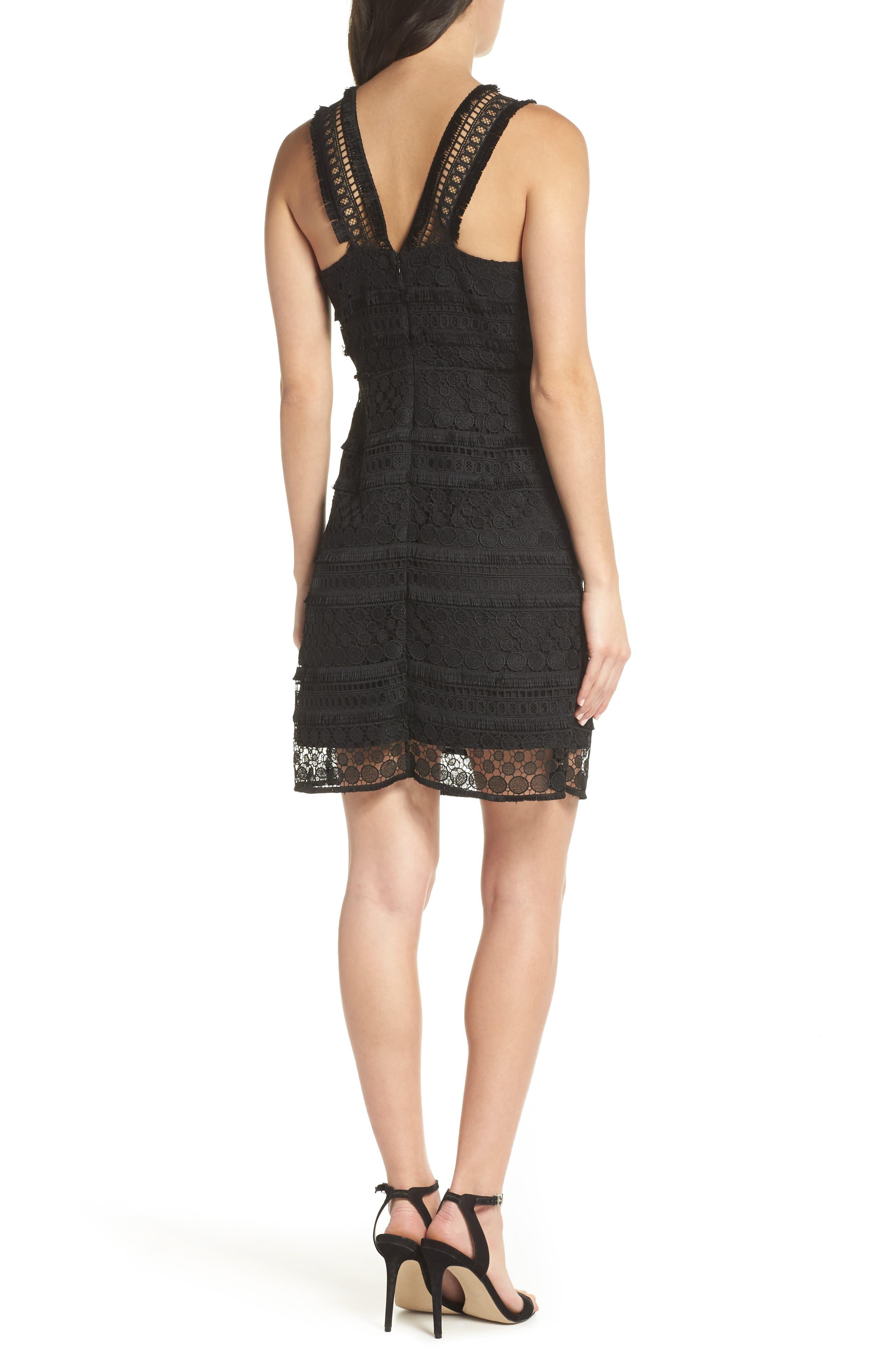 Lace Sheath Dress,                             Alternate thumbnail 2, color,                             Black
