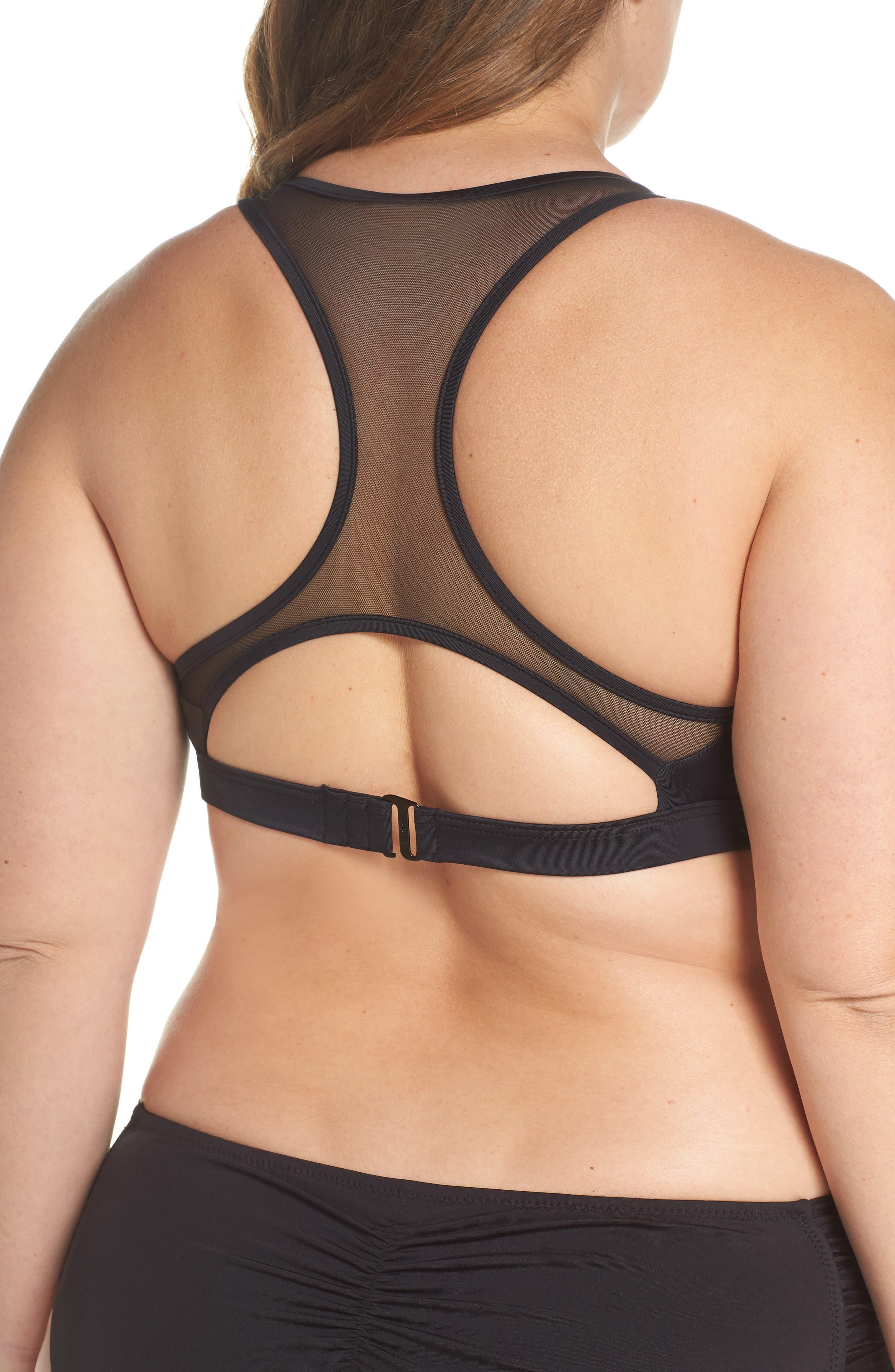 Saldana Cutout Bikini Top,                             Alternate thumbnail 2, color,                             Black
